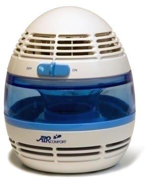 Увлажнитель воздуха Aircomfort HP-900LIТрадиционные<br> <br>В увлажнителе-очистителе воздуха Аircomfort HP-900LI использован специальный увлажняющий фильтр, созданный из пористого материала, который непрерывно пропитывается водой и имеет особую форму. Поток воздуха, нагнетаемый вентилятором, проходит через этот фильтр, наполняясь микроскопическими увлажняющими его капельками воды. Фильтр дополнен бактерицидной пропиткой, благодаря которой удаляются мельчайшие вредные организмы, содержащиеся как в воде, используемой для увлажнения, так и в воздушном потоке.<br>Принцип работы увлажнителя<br>Принцип работы прибора заключается в естественном прохладном испарении. При заполнении устройства водой поплавковый выключатель поднимается вместе с повышением уровня воды. И, когда резервуар заполняется до максимума, поплавок закрывает приемную горловину устройства. Установленный в приборе увлажняющий фильтр является антибактериальным и впитывает в себя воду. За счет капиллярного эффекта он непрерывно находится в увлажненном состоянии. Вентилятор прогоняет сухой воздушный поток через испарительные отделы прибора, и из устройства он выходит уже увлажненным. Благодаря приданию воздуху подходящего направления постоянное увлажнение можно обеспечивать при любом уровне воды. Поэтому прибор гарантирует наилучшую влажность воздуха без дополнительных систем управления.<br>Увлажнитель воздуха Аircomfort HP-900LI имеет следующие особенности:<br><br><br>Подсветка синего цвета<br><br><br>Встроенный ионизатор<br><br><br>Низкое энергопотребление<br><br><br>Низкий уровень шума<br><br><br>Фильтр с антибактериальной пропиткой<br><br><br>Очистка воздуха<br><br><br>Проходя через влажный фильтр, воздушный поток очищается от таких крупных бытовых загрязнений, как пыль, шерсть домашних животных, пыльца растений, перхоть, пух и т. п. <br>Также в увлажнителе воздух насыщается природной свежестью и избавляется от различного рода запахов   благодаря встроенному ионизатору, который генерирует отрицательно за