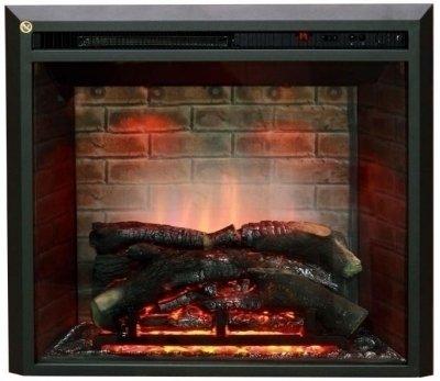 Домашний камин очаг Real-Flame Leeds 26 SDОчаги широкие<br>Очаг Dimplex Leeds 26 SD изготовлен для обрамлений под широкие очаги. С использованием реалистичного эффекта с живым пламенем и муляжом дров, расположенных за стеклом. Встраиваемый вариант монтажа предполагает установку с порталом. Имитация горения  реализована таким образом, что создается непередаваемое ощущение игры пламени с дымом, которую невозможно отличить от настоящего огня. <br><br>Страна: Канада<br>Мощность, кВт: 2,0<br>Пламя Optiflame: Есть<br>Эффект топлива: Дрова<br>Фильтр очистки воздуха: Есть<br>Обогреватель: Есть<br>Цвет рамки: Черный<br>Потрескивание: Нет<br>Пульт: Есть<br>Дисплей: Нет<br>Тип камина: Электрический<br>ГабаритыВШГ,мм: 625x710x223<br>Гарантия: 1 год<br>Вес, кг: 18