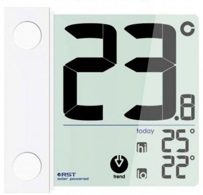 Термометр Rst 01391Оконные термометры<br>Оконный термометр на солнечной батарее RST 01391.&amp;nbsp;<br>Удачный дизайн прибора дополнен ультрамодным прозрачным дисплеем, который не только впишется в любой интерьер, но станет изюминкой Вашего дизайнерского решения. Компактные размеры и универсальное крепление дают привилегию в установочном процессе. Крепится оборудование с внешней стороны окна, в любом понравившемся месте. Для максимально точного измерения показателей предусмотрены электронные датчики, которые контролируют все колебания атмосферного давления. А вот имеющаяся автоматическая система сохраняет все критические показатели за прошедшие сутки.&amp;nbsp;<br>Особенности рассматриваемой модели:<br><br>Компактность<br>Привлекательный дизайн корпуса<br>Современный прозрачный дисплей<br>Установка с внешней стороны стекла<br>Запоминание температурных данных<br><br>&amp;nbsp;<br><br>Производитель: Китай<br>Назначение: Оконный термометр<br>Страна: Швеция<br>Материал: Пластик<br>Диапазон  t, С: 30+70<br>Питание, В: Батарейки<br>Тип батарейки: Солнечная<br>Колво батареек: 1<br>Габариты, мм: 70х98х2х22<br>Вес, кг: 1<br>Гарантия: 1 год