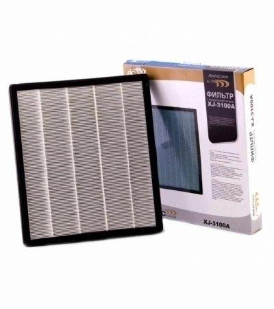 Фильтр к  Aic XJ-3100AФильтры и аксессуары<br>Сменный HEPA фильтр для очистителя воздуха AIC XJ-3100A.<br>HEPA фильтр, используемый в очистителе воздуха  данной модели, представляет собой комбинированный воздушный фильтр, который состоит из активированного угля и высокоэффективного HEPA-фильтра.<br>HEPA-фильтр обладает высокой степенью очистки, улавливает частицы размером до 0,03 микрон с эффективностью до 99,97%.<br>Активированный уголь позволяет нейтрализовать химические соединения и неприятные запахи, в том числе и табачный дым.<br>Фильтр подлежит замене в случае:<br><br>Если появился неприятный запах или на нем имеются трудно выводимые загрязнения.<br>Фильтр потребует более частой замены при использовании в помещении загрязненном парами нефтепродуктов, алкоголя и дыма.<br>Рекомендуемый срок замены   1 раз в 2 года.<br><br>Замена фильтра производиться пользователем самостоятельно. Перед заменой прочитайте инструкцию по эксплуатации данного устройства.<br><br>Страна: Италия<br>Площадь, кв.м.: None<br>Расход воздуха, куб.м/ч: None<br>Мощность, кВт: None<br>Шум, дБА: None<br>Вес, кг: 1<br>Габариты, мм: None<br>Гарантия: 1 год