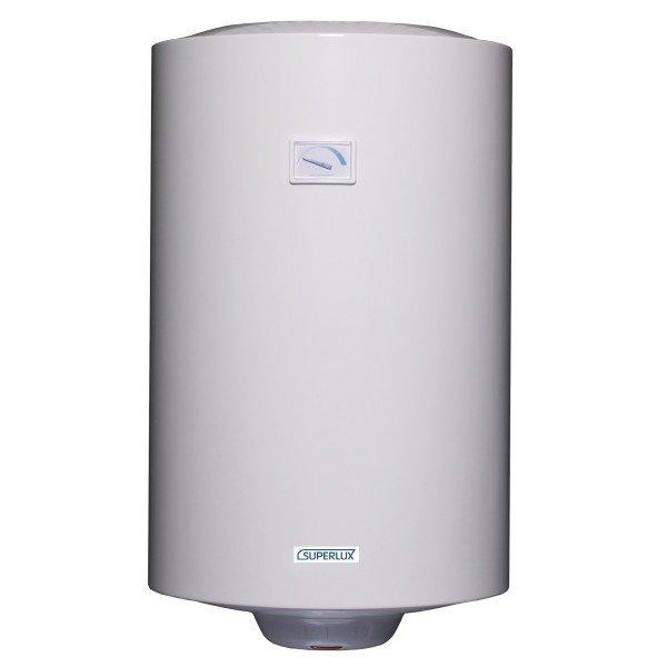 Электрический накопительный водонагреватель Superlux NTS 100 (SU)100 литров<br>В электрическом настенном водонагревательном приборе емкостного типа Superlux NTS 100 (SU) классический дизайн сочетается с современными технологиями. Рассматриваемая модель оборудования имеет ряд достоинств: это компактные размеры, высокая производительность, весьма скромный расход электроэнергии, а также удобство использования.<br>Основные характеристики представленной модели:<br><br>Традиционный дизайн.<br>Удобное управление с индикацией работы.<br>Накопительный бак надежно защищен от коррозии мелкодисперсной эмалью.<br>Водонагреватель тестируется при давлении в 16 атм, что является гарантией качества изготовления бака.<br>Предусмотрен предохранительный клапан на 7 бар.<br>Для дополнительной электрохимической защиты от коррозии предусмотрен магниевый анод, увеличенной массы.<br>Регулировочный термостат продублирован термостатом безопасности.<br>Особая конструкция автоклавного фланца, которая облегчает работу по обслуживанию.<br>Теплоизоляция из пенополиуретана обеспечивает медленное остывание воды.<br>Гарантия качества от производителя.<br><br> <br>Серия водонагревателей Superlux   это практичная модель эконом-класса, которая обеспечит горячей водой не только во время плановых отключений, но и в любой другое время будет исправно греть воду. Для безопасности эксплуатации и предотвращения утечки воды водонагреватель серии Superlux имеет уникальную конструкцию фланца, который облегчает обслуживание данной модели. Особенность конструкции заключается в том, что чем больше давление воды в баке, тем сильнее прижимается прокладка фланца.<br><br>Страна: Италия<br>Способ нагрева: Электрический<br>Нагревательный элемент: Трубчатый<br>Объем, л: 100<br>Темп. нагрева, С: 75<br>Мощность, кВт: 1,5<br>Напряжение сети, В: 220 В<br>Защита от перегрева: есть<br>Покрытие бака: Эмаль<br>Тип установки: Вертикальная<br>Подводка: нижняя<br>Управление: механическое<br>Размеры ШхВхГ, см: 450х913х480<br>Вес, кг: 