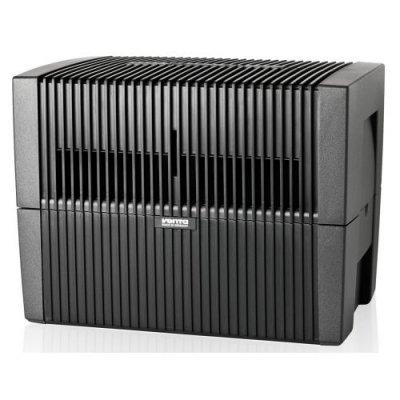 Мойка воздуха Venta LW45 (черная)Бытовые мойки<br>Бытовая мойка воздуха Venta LW45 (черная). Увлажнение воздуха осуществляется естественным методом. Эффективное удаление пыли, грязи и аллергенов. Предусмотрено электронное регулирование параметрами с несколькими разными режимами, и тихий ночной автоматический способ функционирования. Полностью отсутствуют сменные фильтры, что упрощает сервисное обслуживание, которое можно произвести в домашних условиях.<br>Функциональные возможности прибора предусматривают данные преимущества:<br><br>Новая технология увеличения воздушного потока на 7% (с 252 м /час до 270 м /час) за счет обширной площади верхней крышки, через которую воздух поступает во внутреннюю часть прибора<br>Улучшенная защита от влаги электронных элементов <br>Автоматическое отключение при низком уровне воды<br>Электронное управление<br>Индикация работы прибора<br>Встроена дополнительная защитная пластина, которая способствует предотвращению попадание влаги на электронную плату моторного отсека<br>Новый дизайн и компактные размеры<br>Большая площадь увлажнения (увеличена с 68 м  до 75 м  )<br>Полностью отсутствует перерасход электроэнергии<br>Предусмотрена возможность подключения гигростата<br>Более прочные стенки, обеспечивающие долговечное использование и эксплуатацию в любых условиях<br>В комплекте поставляется 2 флакона-тестера гигиенической добавки Venta, ёмкостью 50 мл.<br><br>     Venta-Luftw scher GmbH   один из лидеров по изготовлению приборов для увлажнения и очистки воздуха мирового масштаба. Вся продукция, выпускаемая под данным брендом, имеет современный дизайн, удобное управление, небольшие габаритные размеры, проста в эксплуатации и дальнейшем обслуживании. Чтобы подтвердить высокое качество своей продукции производитель предоставляет гарантию на все бытовые мойки воздуха до 10 лет.<br> Видео о принципе работы моек воздуха Venta:<br><br>Страна: Германия<br>Производитель: Германия<br>S увлажнения, м?: 75<br>S очистки, м?: 40<br>Воздухообмен мsup3;