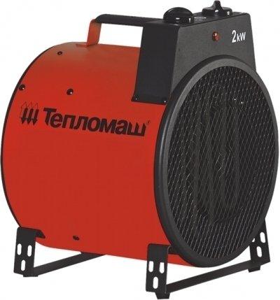 Тепловая пушка Тепломаш КЭВ-3С31E3 кВт<br> <br>Тепловая пушка Тепломаш КЭВ-3С31E позволит быстро и с высокой степенью энергоэффективности прогреть помещение средних размеров, не превышающих 30 м2.<br>Корпус цилиндрической формы с двух сторон покрыт полимерным антикорррозийным покрытием.<br>Температура нагрева воздуха и мощность прибора устанавливаются при помощи регуляторов, расположенных вверхней части прибора. Тепловую пушку можно использовать в качестве обычного вентилятора, если отключить нагрев ТЭНа.<br>Защитное устройство, входящее в конструкцию прибора, отключит прибор в случае возникновения потенциально опасной или аварийной ситуации.<br>Данная модель работает от электросети 220/230 В.<br> <br>Основные характеристики товара:<br><br>Диапазон температуры нагрева воздуха: +5 - +40 оС;<br>Диапазон рабочей температуры воздуха окружающей среды: -40 - +40 оС;<br>Позволяет быстро достичь требуемой температуры воздуха в помещении;<br>Возможность регулировать мощность прибора и температуру нагреваемого воздуха;<br>Три режима мощности: 2 и 3 кВт;<br>Возможность использования в качестве вентилятора (отключение нагревательного элемента);<br>Наличие встроенной защиты от перегрева;<br>Малошумный двигатель;<br>Осевой вентилятор с алюминиевыми или стальными крыльчатками с полимерным покрытием;<br>Нагревательный элемент из нержавеющей стали;<br>Не пережигает кислород;<br>Корпус из листовой стали с антикоррозийным покрытием из высококачественного полимера;<br>На 90% состоит из высококачественных материалов и комплектующих европейского происхождения;<br>Наличие защитной решетки на передней панели прибора;<br>Небольшой вес и компактные размеры;<br>Индикатор питания.<br>Современный дизайн.<br><br> <br> Тепловые пушки используются главным образом в помещениях промышленного и полупромышленного назначения (ангары, мастерские, склады, гаражи и пр.) и на строительных объектах для обогрева помещений или удаления влаги. Однако современный дизайн, компактные размеры и небольшой вес тепло