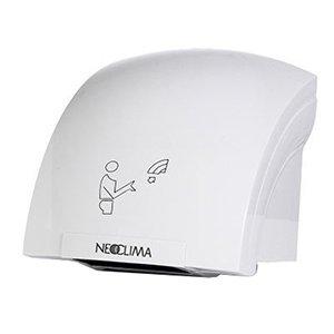 Электрическая сушилка для рук Neoclima NHD-2.0Пластиковые<br>Электрическая сушилка для рук Neoclima NHD-2.0 незаменима в местах, где большая проходимость людей. Представленный прибор может использоваться в бинес-центрах, торговых центрах, гостиницах, кинотеатрах, ресторанах и т.д. Представленный прибор отличается небольшой мощностью, что позволит использовать оборудование в помещениях с ограниченным электропотреблением или старой проводкой. Для удобства эксплуатации в сушилке для рук предусмотрен инфракрасный датчик движения, который включает прибор без прикосновения к нему, при поднесении рук.<br>Основные характеристики представленной модели:<br><br>Ударопрочный корпус из пластика.<br>Направленный поток воздуха.<br>Автоматическое включение/отключение.<br>Встроенный инфракрасный датчик движения.<br>Простая установка.<br>Быстрая сушка.<br>Экономное электропотребление.<br>Высококачественные материалы.<br>Удобная эксплуатация.<br>Современный дизайн.<br>Класс защиты IP23.<br>Простота обслуживания.<br>Высокая воздухопроизводительность.<br>Мощный тепловентилятор.<br>Низкий уровень шума при эксплуатации.<br>Надежность.<br>Длительный срок безукоризненной службы.<br><br> <br>Сушилки для рук от компании Neoclima отличаются надежностью и простотой использования. Весь модельный ряд отличается своими конструктивными особенностями: это долговечный двигатель и система бесконтактного включения и выключения. Кроме того, модели сушилок для рук Neoclima сразу обращают внимание на свой дизайн   современный, но классический и элегантный, он будет весьма гармонично смотреться в любом интерьере. А компактные размеры приборов позволят разместить сушилки для рук в любом удобном месте. Стоит также обратить внимание, что приборы облачены в ударопрочный корпус.<br><br>Страна: Греция<br>Мощность, кВт: 2,0<br>Материал корпуса: Пластик<br>Поток воздуха м/с: 15<br>Степень защиты: IP 23<br>Цвет корпуса: Белый<br>Минимальный уровень шума, дБа: 55<br>Объем воздушного потока, м3/час: None<br>Средняя с