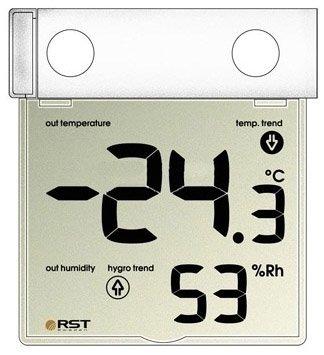 Термометр Rst 01278Оконные термометры<br> <br>Особенности и характеристики модели:<br><br>Лёгкая установка на уличную сторону окна с помощью специальных термостойких липучек.<br>Питание осуществляется от 1 батарейки AAA.<br>Размер дисплея - 89х77 мм.<br>Легко снимается с места установки для замены батареек или помывки окон.<br>Защита от ультрафиолетового излучения.<br><br><br>Производитель: Швеция<br>Назначение: Оконный термометр<br>Страна: Швеция<br>Материал: Пластик<br>Диапазон  t, С: 30+70<br>Питание, В: Батарейки<br>Тип батарейки: ААА<br>Колво батареек: 1<br>Габариты, мм: 97х100х2<br>Вес, кг: 1<br>Гарантия: 1 год<br>Ширина мм: 100<br>Высота мм: 97<br>Глубина мм: 2