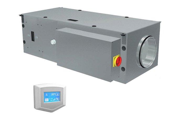 Приточная вентиляционная установка 2vv ALFA-C-20VS-DP-22000 м?/ч<br>Для организации максимально комфортных условий в помещении идеально подойдет передовая приточная установка 2vv ALFA-C-20VS-DP-2. Представленное устройство оснащено передовой комплектацией, отличается удобным интуитивным управлением, а также практически не издает шума во время работы. Корпус, в котором исполнен агрегат, также характеризуется высокой надежностью.<br>Особенности и преимущества приточных вентустановок от бренда 2vv:<br><br>Воздухопроизводительность от 500 до 8000 м3/ч;<br>Модели с электрическим или водяным нагревателем, водяным охладителем;<br>Встроенная автоматика с возможностью программирования режимов работы;<br>В комплекте выносной пульт с сенсорным управлением и соединительный кабель 10м;<br>Интегрированные датчики температуры: канальный и комнатный;<br>Встроенная секция шумоглушения;<br>Встроенная защита от замерзания по воздуху и по воде для установок с водяным нагревателем;<br>Северная версия для регионов с холодным климатом.<br><br>Вентиляционные установки от компании 2vv позволят создать максимально комфортные условия в помещениях. Модели оборудованы качественным пылевым  фильтром класса G4, отличаются высокой производительностью по воздуху. В семействе можно найти однофазные и трехфазные агрегаты, благодаря чему есть возможность создать систему вентиляции, как в небольших бытовых, так и в промышленных помещениях большой площади. Помимо этого семейство устройств от 2vv располагает моделями и приточного, и приточно-вытяжного типа.   <br><br>Страна: Чехия<br>Производитель: Чехия<br>Поток воздуха мsup3; ч: 2000<br>Потр. мощность вентилятора, кВт: None<br>Max мощность нагревателя, кВт: 32,80<br>Мощность, кВт: None<br>Класс защиты: IP20<br>Пылевой фильтр: Есть<br>Адсорбционный фильтр: None<br>Темп. эксплуатации, С: +5...+35<br>Поддержание заданной темп., C: None<br>Тип нагревателя: Водяной<br>Управление: Электронное<br>Фильтры: G4<br>Уровень шума, дБа: None<br>Питание, В: 220 В<br>