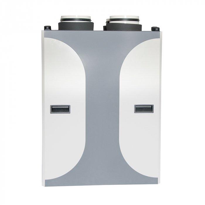 Приточно-вытяжная вентиляционная установка 2vv HRDA1-015UXCBE75-EE1C-0A0500 м?/ч<br>Модель приточно-вытяжной установки 2vv HRDA1-015UXCBE75-EE1C-0A0 с интегрированным электронагревателем и функцией рекуперации подходит для установки в торговых и промышленных помещениях. Допускается монтаж в кухонную мебель. Максимальный расход воздуха составляет 150 м3/ч. Двигатель модели защищен от перегрева и является энергосберегающим.<br>Особенности и преимущества:<br><br>Пять типоразмеров с расходом воздуха от 150 до 900 м /ч;<br>Подходит для встройки в кухонную мебель;<br>Алюминиевый противоточный теплообменник с эффективностью рекуперации тепла 93%;<br>Энергоэффективные EC моторы с низким SFP и тихой работой;<br>Плавнорегулируемый автоматический байпас для охлаждения в летний период;<br>Интеллектуальная регуляция с сенсорным управлением и режимами вентиляции CAV, DCV;<br>Фильтры F7 (приток) и М5 (вытяжка);<br>Опционально   фильтр предварительной очистки на притоке G2;<br>Высокая горловина с изоляционным подсоединением;<br>Встроенный электрический преднагреватель;<br>Простая установка и обслуживание.<br><br>Приточно-вытяжные установки от чешского бренда 2vv   это современные агрегаты, которые помогут организовать эффективную вентиляцию в помещениях самого различного назначения. Модельный ряд вентустановок широк, благодаря чему каждый покупатель сможет подобрать подходящее оборудование для решения конкретной задачи. Одного из главных достоинств, но далеко не последнее,   это компактность агрегатов, что обуславливает эргономичность монтажа.<br><br>Страна: Чехия<br>Производитель: Чехия<br>Поток воздуха мsup3; ч: 150<br>Max мощность, кВт: 1,03<br>Max рабочий ток, А: None<br>Тип нагревателя: Электрический<br>Рекуперация: Есть<br>Тип рекуператора: Алюминиевый<br>Max КПД рекуператора,: 93<br>Класс защиты: IP20<br>Управление: COMFORT<br>Фильтры: F7/M5<br>Уровень шума приток, дБа: 28,3<br>Уровень шума вытяжка, дБа: 28,3<br>Питание, В: 230 В<br>Габариты ВхШхГ,мм: 864х366,5х567<br>Вес, к