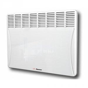 Конвектор электрический Thermor Evidence 2 Elec 125012 м? - 1.2 кВт<br>Конвектор Thermor&amp;nbsp; модели Evidence 2 Elec 1250 предназначается для отопления помещений площадью до 12,5 квадратных метров. Представленный прибор не будет сушить воздух во время своей работы. Благодаря наличию электронного термостата производится точное поддержание установленной пользователем температуры воздуха в комнате.<br>Представленную модель можно установить в ванной (IP24). В случае перегрева конвектор автоматически отключится. Он долговечен и очень безопасен в эксплуатации за счет наличия закрытого нагревательного элемента.<br>Особенности представленной модели:&amp;nbsp;<br><br>Служит для комфортного обогрева<br>Этот конвектор не будет сушить воздух во время эксплуатации, обеспечивая самый комфортный обогрев в помещении.<br>Обеспечивает точное поддержания заданной пользователем температуры<br>За счет встроенного электронного цифрового термостата, который расположен в верхней части корпуса устройства, осуществляется самое точное поддержание необходимой температуры в помещении.<br>Можно устанавливать в достаточно влажных помещениях<br>Благодаря обеспечению классом защиты IP24 можно устанавливать конвектор Thermor модели EVIDENCE 2 ELEC в ванных комнатах.&amp;nbsp;<br><br>Преимущества конвектора:&amp;nbsp;<br><br>Обеспечен световым индикатором нагрева;<br>Устройство не нуждается в заземлении благодаря электрозащите класса II;<br>Возможность блокировки органов управления предотвращается случайное изменение в параметрах работы прибора;<br>Автоматически отключается в случае перегрева;<br>Можно объединять нескольких обогревателей в одну цепь;<br>Закрытый нагревательный элемент, обеспеченный диффузором является безопасным и долговечным;<br>Служит для равномерного распространения теплого воздуха;<br>Конвектор очень прост в установке благодаря наличию кронштейнов (они поставляются в комплекте);<br>Обеспечен пятью режимами переключателя: комфортным, эко, антизамерзанием, стоп и настройкой пр