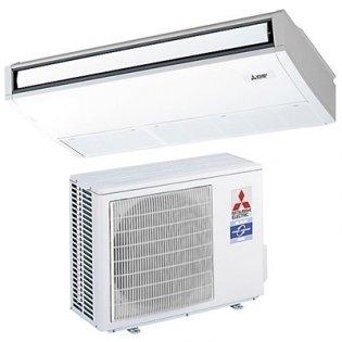 Напольно-потолочный кондиционер Mitsubishi Electric PCA-RP50 KAQ / SUZ-KA50VA5.5 кВт - 18 BTU<br>Напольно-потолочная сплит-система PCA-RP50 KAQ / SUZ-KA50VA, от компании Mitsubishi Electric, может применяться в помещениях, до 50 квадратных метров. Производительность по холоду составляет 5 кВт.<br>Особенности:<br><br>Изящный и современный дизайн выполнен в стиле  new edge . Криволинейные поверхности корпуса пересекаются, образуя четкие грани;<br>Небольшой вес внутреннего блока и низкий уровень шума<br>Проводной пульт управления с жидкокристаллическим дисплеем поставляется в комплекте с внутренним блоком. Пульт русифицирован;<br>Горизонтальное и вертикальное регулирование направления воздушного потока;<br>Встроенная функция ротации и резервирования;<br>Вентилятор внутреннего блока имеет 4 фиксированные скорости, а также автоматический режим, в котором скорость автоматически уменьшается при достижении целевой температуры в помещении;<br>Беспроводной ИК-пульт управления   опция;<br>Предусмотрены опциональные дренажные насосы, которые устанавливаются внутри корпуса прибора. Высота подъема воды до 600 мм относительно верхней поверхности блока;<br>Предусмотрена подача свежего воздуха в корпус прибора.<br><br> <br>Сплит-система Mitsubishi Electric PCA-RP50 KAQ / SUZ-KA50VA разработана в современном дизайне. Такой внешний вид позволяет устанавливать ее в любом помещении, не обращая внимания на интерьер этого помещения. Произвести монтаж не составит труда, ведь у сплит-системы небольшой вес и компактные габаритные размеры. Так что без труда можно устанавливать ее на высоте.<br>Управляться система Mitsubishi Electric PCA-RP50 KAQ / SUZ-KA50VA может при помощи проводного пульта управления. Этот пульт можно унести на большое расстояние и установить в любое место, например, на стену. В качестве опции имеется возможность поставки в комплекте вместе с кондиционером, инфракрасного дистанционного пульта управления. С дистанционным пультом Вам будет еще комфортнее.<br><br><br><br>Такж