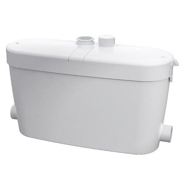 Канализационная установка SFA SANIACCESS PUMPКанализационные установки<br>Компания SFA, образованная около десяти лет назад во Франции, занимает одно из первых мест на мировом рынке по продажам бытового санитарного насосного оборудования. Санитарная насосная станция SFA SANIACCESS PUMP поможет Вам устранить проблему оттока канализации в Вашем санузле, организовав принудительную откачку сточных вод. Во избежание попадания в трубопровод крупных предметов, волос, ваты и тому подобного, этот насос предварительно измельчает все загрязнения с помощью ножей.<br>Основные характеристики насосной станции:<br><br>Широкая сфера применения<br>Большая производительность<br>Предварительное измельчение загрязнений<br>Автоматическое слежение за уровнем воды<br>Бесшумный двигатель<br>Отсутствие вибрации<br>Легкий монтаж<br>Компактный размер<br>Современный дизайн<br><br>Санитарная насосная станция SFA предназначена для обустройства бесперебойной работы канализационной системы в частном доме, квартире или в любом помещении, где канализация проблемная или отсутствует вовсе. Этот прибор обеспечивает принудительную откачку воды из любой санитарной точки.&amp;nbsp;Этот прибор исключает самую частую проблему канализации, засоры, поскольку перед выводом сточных вод, этот насос измельчает твердые загрязнения &amp;ndash; это могут быть фекальные массы, туалетная бумага, волосы и любые другие твердые предметы, которые попали в ванную или умывальник.&amp;nbsp;<br>С помощью этого насоса можно оборудовать вполне полноценную систему канализации в доме, где таковая не предусмотрена: это оборудование отводит сточные воды на 5 метров по вертикали и 100 метров по горизонтали, причем, трубы отвода стока могут иметь изгибы, подниматься и опускаться на любой уровень. Такое довольно большое расстояние позволяет вывести канализационную трубу из дома прямиком в сточную яму.<br>В этом сани-насосе установлена фильтрационная система из активированного угля, благодаря которой удалось полностью избавиться от запа