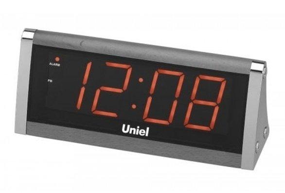 Часы без проекции Uniel UTL-12RBrЧасы без проекции<br>Наш интернет-магазин представляет новинку от российской компании UNIEL &amp;ndash; электронные настольные сетевые часы UTL-12RBr. Гаджет показывает точное время в 12-часовом формате; большой LED-дисплей с автоматической регулировкой яркости подсветки (посредством диммера Hi-Lo). Также устройство может использовать батарейки типа 6LR61 в качестве резервного источника питания.<br>Основные преимущества использования рассматриваемой модели многофункциональных электронных часов&amp;nbsp;от торговой марки UNIEL:<br><br>Стильный эргономичный дизайн.<br>Компактные размеры конструкции.<br>Часы электронные сетевые.<br>LED дисплей.<br>Высота цифр 44 мм.<br>Авторегулировка яркости дисплея (HI-LO диммер).<br>Двенадцатичасовой формат времени.<br>Сетевой адаптер 220В.<br>Резервное питание 6LR61. &amp;nbsp;<br>Высокое качество и комфорт в управлении.<br><br>Линейка многофункциональных часов от известной торговой марки UNIEL, несомненно, придется по вкусу всем любителям технологий. Эти устройства представляют собой современные гаджеты, которые оснащены не только индикатором точного времени, но и еще множеством дополнительных возможностей. Например, это функция &amp;laquo;Snooze&amp;raquo; у будильника. Дословно &amp;laquo;Snooze&amp;raquo; переводится, как &amp;laquo;вздремнуть&amp;raquo;. То есть будильник позволяет несколько раз откладывать сигнал, что весьма понравится любителям подольше полежать в кровати по утрам.<br><br>Страна: Китай<br>Питание, В: Сеть/Бат.<br>Тип батарейки: 6LR61<br>Колво батареек: 1<br>Адаптер к 220В: Есть<br>С будильником: Да<br>Радиодатчик: None<br>С метеостанцией: None<br>В помещении t, С: Нет<br>За окном t, С: Нет<br>Влажность в помещении: Нет<br>Влажность за окном: Нет<br>Давление: Нет<br>Прогноз погоды: Нет<br>Габариты, мм: 215x90x70<br>Вес, кг: 1<br>Гарантия: 1 год<br>Ширина мм: 90<br>Высота мм: 215<br>Глубина мм: 70