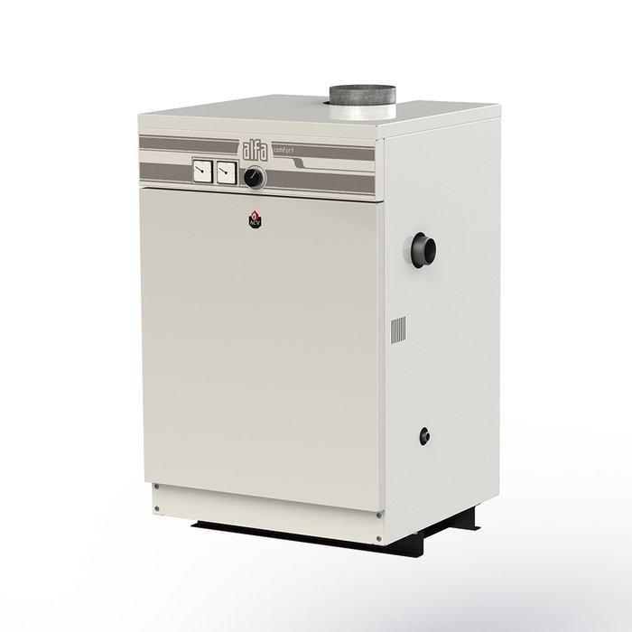 Котел ACV Alfa Comfort E 60 v1550 кВт<br>Высокоэффективный электрический котел ACV (АСВ) Alfa Comfort E 60 v15 работает с низким энергопотреблением и при этом характеризуется стабильно высокими показателями производительности. Данный агрегат отлично подходит для эксплуатации в жилых помещениях, так как выполнен в компактном современном корпусе и оборудован передовой системой безопасности.<br>Главные преимущества и особенности рассматриваемой модели котла отопления от компании ACV:<br><br>Высокий КПД: до 91,5 %<br>Работа на природном газе<br>Одноступенчатая атмосферная горелка (автоматическое управление газовым клапаном)<br>Низкий уровень шума<br>Электророзжиг<br>Режим  мягкого старта <br>Удобная панель управления<br>Манометр, термометр, регулировочный термостат в базовой комплектации<br>Встроенные устройства безопасности<br>Аварийная индикация<br>Функция управления бойлером с приоритетом ГВС<br>Возможно подключение внешнего термостата<br>Универсальное использование: любые системы отопления<br>Полная комплектация для работы котла<br>Компактные размеры<br>Подключение к электросети 220 В / 50 Гц<br>Надежная конструкция, проверенная временем<br>Срок службы: не менее 10 лет<br>100% гарантия качества<br><br>ACV Alfa Comfort E  v15   э то обновленная серия уже зарекомендовавшего себя отопительного оборудования. Котлы данного семейства экономичны и невероятно надежны. Производитель уделил особое внимание функционалу представленных устройств, снабдив их современными разработками, которые обуславливают максимальный комфорт и удобство. Также стоит отметить, что котлы ACV Alfa Comfort E  v15 прекрасно адаптированы к российским эксплуатационным условиям и совершенно неприхотливы.<br><br>Страна: Бельгия<br>Производство: Россия<br>Тип котла: Энергозависимые<br>Режим работы: Отопление<br>Камера сгорания: Открытая<br>Горелка: Атмосферная<br>Тип розжига: Электророзжиг<br>Материал теплобмненника: Чугун<br>Количество секций: None<br>Max мощность, кВт: 52,0<br>Min полезная мощность, кВт
