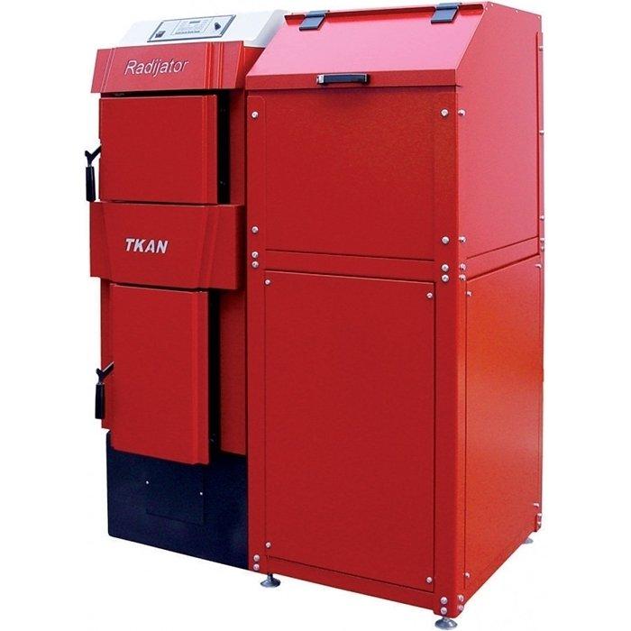 Котел ACV TKAN 2 (40-60 kW)50 кВт<br>Эффективный и надежный котел модели ACV (АЦВ) TKAN 2 (40-60 kW) работает на гранулированном топливе, легко обслуживается и не производит вредных выбросов в атмосферу. Для исполнения корпуса такого оборудования были применены высококачественные и высокопрочны материалы, безопасные и устойчивые к воздействиям. Универсальность в размещении обеспечивает удобный монтаж.<br>Особенности и преимущества:<br><br>Автоматическая работа котла (автоматизированная работа без постоянного присутствия пользователя)<br>Автоматический электророзжиг (только для пеллет)<br>Горелка с принудительной подачей воздуха<br>Универсальность монтожа бункера (с левой или с правой стороны от котла)<br>Улучшенная комплектация (колосниковые пластины для сжигания дров от котла)<br>Модуляция мощности<br>Устойчивость к отложениям пепла (вертикальные конвективные поверхности)<br>Высокая эффективность среди аналогов (КПД 90% большая поверхность теплообмена 3-х ходовая камера сгорания наличие турбулизаторов, увеличивающих теплообмен)<br>Максимальная пожаробезопасность<br>Универсальность по топливу (древесные пеллеты, дрова, древесные брикеты)<br>Продолжительное время автономной работы (до 4 дней в зависимости от топлива, характеристик помещения и автоматизации системы отопления)<br>Герметичный загрузочный люк (фронтальная и вертикальная загрузка топлива (дрова, брекеты))<br>Система защиты от перегрева (вспомогательная система на основе встроенного теплообменника)<br>Долгий ресурс службы (увеличенная толщина стенок 5мм)<br>Высокая экологичность (точное дозирование воздуха для горения и режим пониженной теплогенерации)<br><br>Пеллетные котлы ACV серии Tkan представляют собой широкую линейку высокоэффективных автоматизированных и полностью безопасных устройств отопления, работающих на дешевом твердом топливе. Модели отличаются рабочей мощностью и подходят для обслуживания как жилых домов со средней площадью, так и промышленных предприятий. Установлена высокоуровневая систем