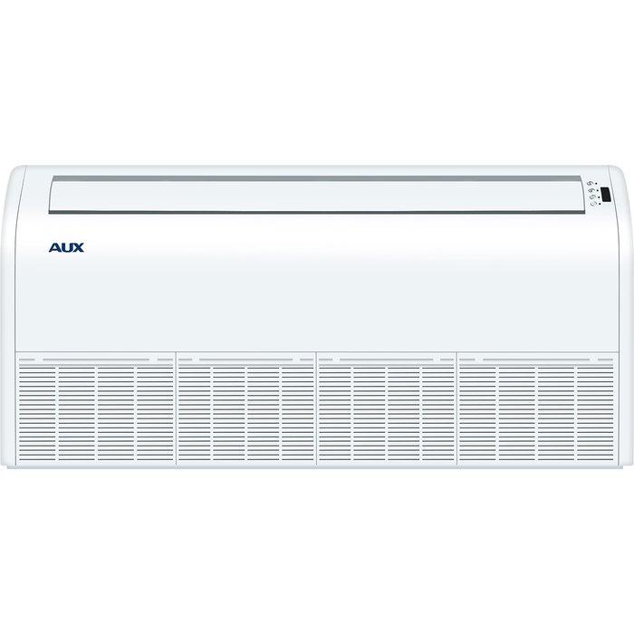 Напольно-потолочный кондиционер AUX AL-H18/4R1(U)/ALCF-H18/4R15.5 кВт - 18 BTU<br>Кондиционер AUX (Аукс) AL-H18/4R1(U)/ALCF-H18/4R1. Прибор для небольших помещений. Прост в управлении, управляется дистанционно пультом и при помощи цифровой панели. Установите наиболее подходящую температуру. Специальная система позволяет задать направление и скорость воздушного потока, что позволяет не боятся сквозняка. Улучшенные фильтры хорошо очищают воздух.<br>Основные достоинства напольной сплит-системы серии AUX ALCF:<br><br>Конструкция приборов позволяет устанавливать внутренние блоки практически в любом месте, обеспечивая широкие возможности проектирования систем кондиционирования для просторных помещений.<br>Конструкция узлов и элементов кондиционера разработана таким образом, что позволяет подключить воздуховоды к инженерным системам объекта, а именно, вентиляции.<br>Высокая производительность в любом из режимов работы.<br>За счет того, что одна канальная сплит-система способна обслужить сразу несколько помещений, потребитель экономит на приобретении и монтаже оборудования.<br>Возможность интеграции в стационарную систему вентиляции здания.<br>Невысокая стоимость оборудования и монтажа (охлаждение и вентиляция нескольких помещений происходит за счет одной сплит-системы).<br>Комфортный уровень шума во время работы вентилятора внутреннего блока.<br><br>Комплекты напольных кондиционеров AUX были разработаны ведущей производственной компанией с многолетним опытом изготовления оборудования данной категории. Изделия из рассматриваемой линейки отличаются достойными пользовательскими и эксплуатационными характеристиками. Обеспечивают не только нагрев, но и охлаждение воздуха, вентиляцию . Предусмотрена самодиагностика неисправностей.<br><br>Страна: Китай<br>Охлаждение, кВт: 5.3<br>Обогрев, кВт: 5.8<br>Воздухообмен, мsup3;/ч: 920<br>Осушение, л/час: None<br>Уровень шума внеш/внутр.б., Дба: 55/43<br>Габариты внут. блока, ВШГ: 660x929x205<br>Габариты внеш. блока ВШГ: 590x800x300<br>Ве
