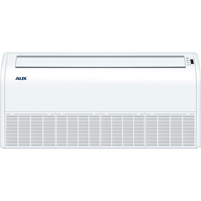 Напольно-потолочный кондиционер AUX AL-H60/5R1(U)/ALCF-H60/5R117 кВт - 60 BTU<br>Кондиционер AUX (Аукс) AL-H460/5R1(U)/ALCF-H60/5R1 можно устанавливать на полу и крепить под потолком. Рекомендуемая площадь охвата 165 кв.м. Дистанционное управление. Есть функция подмеса воздуха. Сам перезапускается. За счёт красивого и современного дизайна хорошо вписывается в любой интерьер. Сплит-система, которая позволяет подключить несколько небольших помещений к одному внешнему блоку.<br>Основные достоинства напольной сплит-системы серии AUX ALCF:<br><br>Конструкция приборов позволяет устанавливать внутренние блоки практически в любом месте, обеспечивая широкие возможности проектирования систем кондиционирования для просторных помещений.<br>Конструкция узлов и элементов кондиционера разработана таким образом, что позволяет подключить воздуховоды к инженерным системам объекта, а именно, вентиляции.<br>Высокая производительность в любом из режимов работы.<br>За счет того, что одна канальная сплит-система способна обслужить сразу несколько помещений, потребитель экономит на приобретении и монтаже оборудования.<br>Возможность интеграции в стационарную систему вентиляции здания.<br>Невысокая стоимость оборудования и монтажа (охлаждение и вентиляция нескольких помещений происходит за счет одной сплит-системы).<br>Комфортный уровень шума во время работы вентилятора внутреннего блока.<br><br>Комплекты напольных кондиционеров AUX были разработаны ведущей производственной компанией с многолетним опытом изготовления оборудования данной категории. Изделия из рассматриваемой линейки отличаются достойными пользовательскими и эксплуатационными характеристиками. Обеспечивают не только нагрев, но и охлаждение воздуха, вентиляцию . Предусмотрена самодиагностика неисправностей.<br><br>Страна: Китай<br>Охлаждение, кВт: 16.5<br>Обогрев, кВт: 16.6<br>Воздухообмен, мsup3;/ч: 1800<br>Осушение, л/час: None<br>Уровень шума внеш/внутр.б., Дба: 62/51<br>Габариты внут. блока, ВШГ: 660x1631x205<br>Габариты в
