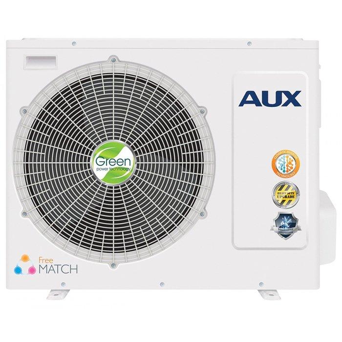 Наружный блок AUX AM3-H27/4DR13 комнаты<br>AUX (АУКС) AM3-H27/4DR1   это передовой наружный блок климатической системы, представленный всемирно известным производителем, который гарантирует долговечность и несравненную эффективность данного агрегата. К рассматриваемой модели можно подключить несколько блоков, расположенных внутри здания, это позволит передовую создать мульти сплит-систему.<br>Особенности и преимущества мульти сплит-систем AUX серии Free Match:<br><br>Инверторные мультисистемы AUX разработаны специально для создания комфортного микроклимата в загородных домах, многокомнатных квартирах, кафе и офисах небольшой площади.<br>Система может включать до пяти внутренних блоков различной мощности и всего один наружный блок, что позволяет сохранить привлекательный внешний вид фасада здания. Использование мультисистем AUX предоставляет широкий выбор внутренних блоков: настенные, канальные, кассетные, напольно-потолочные модели, с производительностью охлаждения от 2,1 до 5,6 кВт.<br>Система позволяет настраивать работу каждого внутреннего блока индивидуально, что дает возможность создавать комфортный микроклимат в каждой комнате независимо от остальных помещений.<br><br>Серия Free Match от AUX представляет собой семейство современных высокотехнологичных мульти сплит-систем, оснащенных улучшенными комплектующими элементами и представленных в эргономичных высококачественных корпусах. Такое оборудование позволяет с минимальными затратами и нарушением внешнего вида зданий наладить комфортный климат сразу в нескольких помещениях. <br><br>Страна: Китай<br>Охлаждение вн.блока,кВт: None<br>Производитель: Китай<br>Обогрев вн.блока, кВт: None<br>Площадь вн.блока, м?: None<br>Компрессор: Инвертор<br>Площадь, м?: 70<br>Режим работы: холод/тепло<br>Уровень шума, дБа: 56<br>Охлаждение,кВт: 7,35<br>Горизонтальная регулировка потока: Нет<br>Обогрев, кВт: 7,95<br>Габариты ВхШхГ, см: 69x80x30<br>Потребление при охлаждении, кВт: 2,29<br>Потребление при обогреве, кВт: 2,2<br>Уровен