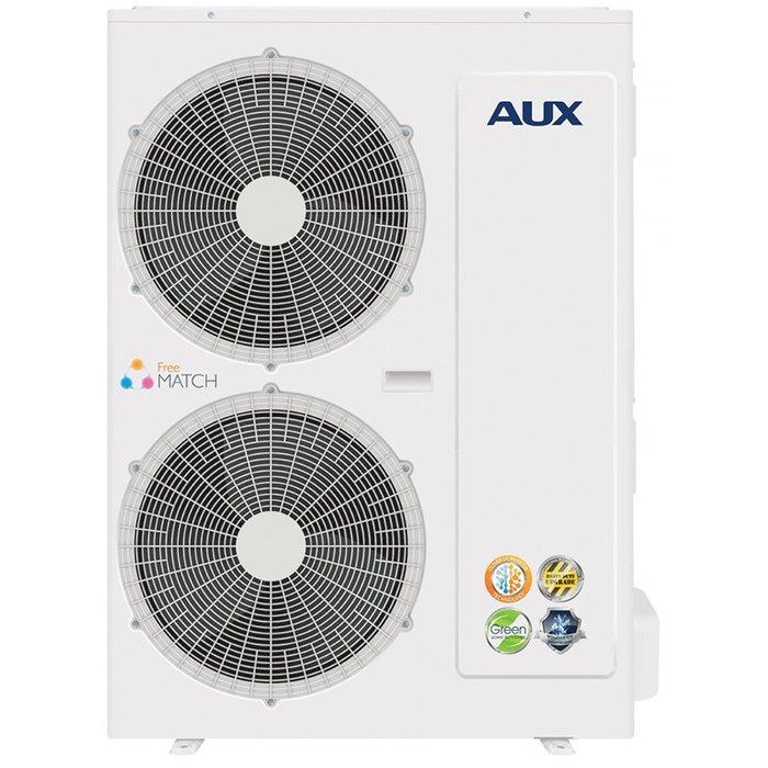 Наружный блок AUX AM4-H36/4DR14 комнаты<br>Высокомощный наружный блок модели AUX (АУКС) AM4-H36/4DR1 идеально подходит для использования на объектах жилого или коммерческого типа и позволяет с наименьшими затратами и без нарушения внешнего вида здания организовать оптимальный климат внутри нескольких помещений. Рассматриваемое устройство также характеризуется увеличенной производительностью.<br>Особенности и преимущества мульти сплит-систем AUX серии Free Match:<br><br>Инверторные мультисистемы AUX разработаны специально для создания комфортного микроклимата в загородных домах, многокомнатных квартирах, кафе и офисах небольшой площади.<br>Система может включать до пяти внутренних блоков различной мощности и всего один наружный блок, что позволяет сохранить привлекательный внешний вид фасада здания. Использование мультисистем AUX предоставляет широкий выбор внутренних блоков: настенные, канальные, кассетные, напольно-потолочные модели, с производительностью охлаждения от 2,1 до 5,6 кВт.<br>Система позволяет настраивать работу каждого внутреннего блока индивидуально, что дает возможность создавать комфортный микроклимат в каждой комнате независимо от остальных помещений.<br><br>Серия Free Match от AUX представляет собой семейство современных высокотехнологичных мульти сплит-систем, оснащенных улучшенными комплектующими элементами и представленных в эргономичных высококачественных корпусах. Такое оборудование позволяет с минимальными затратами и нарушением внешнего вида зданий наладить комфортный климат сразу в нескольких помещениях. <br><br>Страна: Китай<br>Охлаждение вн.блока,кВт: None<br>Производитель: Китай<br>Обогрев вн.блока, кВт: None<br>Площадь вн.блока, м?: None<br>Компрессор: Инвертор<br>Площадь, м?: 100<br>Режим работы: холод/тепло<br>Охлаждение,кВт: 10,0<br>Горизонтальная регулировка потока: Нет<br>Уровень шума, дБа: 56<br>Обогрев, кВт: 11,0<br>Уровень шума, дБа: None<br>Габариты ВхШхГ, см: 92x98x39<br>Потребление при охлаждении, кВт: 3,05<br>Габариты ВхШхГ