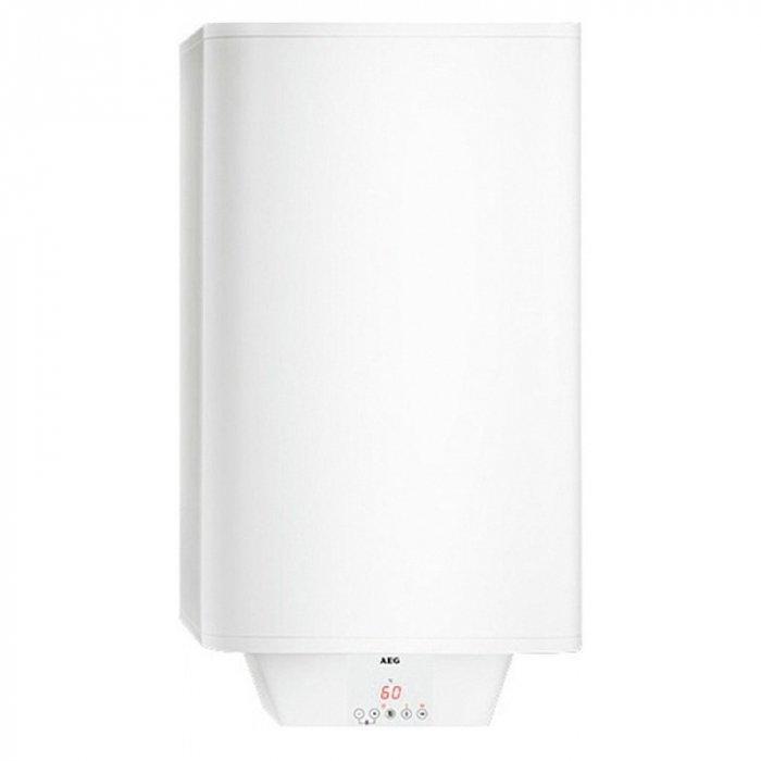 Электрический накопительный водонагреватель 50 литров Aeg EWH 50 Comfort EL50 литров<br>Электрический накопительный водонагреватель 50 литров AEG  EWH 50 Comfort  EL оснащен сенсорной панелью управления, с возможностью установки различных программ. В панель встроен светодиодный дисплей, который отображает режим работы прибора и текущую температуру воды в баке. Напорный водонагреватель оснащен функцией быстрого выхода на максимальную температуру.  Для защиты бака в прибор встроен сменный магниевый анод. Предусмотрена специальная защитная блокировка от детей. Плоская конструкция идеальна для дома. <br><br>Страна: Германия<br>Производитель: Словакия<br>Способ нагрева: Электрический<br>Нагревательный элемент: Трубчатый<br>Объем, л: 50<br>Темп. нагрева, С: 85<br>Мощность, кВт: 1,8<br>Напряжение сети, В: 220 В<br>Плоский бак: Да<br>Узкий бак Slim: Нет<br>Магниевый анод: Да<br>Колво ТЭНов: 2<br>Дисплей: Да<br>Сухой ТЭН: Да<br>Защита от перегрева: Есть<br>Покрытие бака: Эмаль<br>Тип установки: Вертикальная<br>Подводка: Нижняя<br>Управление: Электронное<br>Размеры ШхВхГ, см: 38х93,1х38<br>Вес, кг: 24<br>Гарантия: 10 лет<br>Ширина мм: 380<br>Высота мм: 931<br>Глубина мм: 380