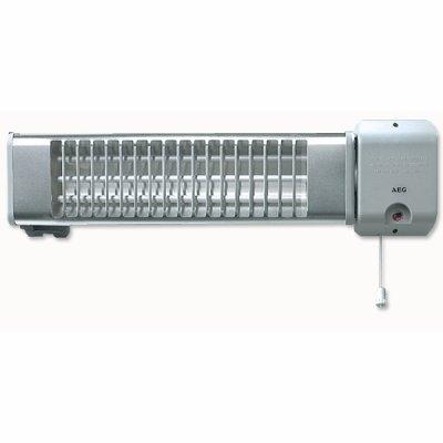 Инфракрасный обогреватель Aeg IWQ 1201 кВт<br>Предлагаем вашему вниманию настенный инфракрасный обогреватель AEG IWQ 120, используемый преимущественно для локального обогрева жилых помещений, в которых постоянное отопление не требуется. Даже находясь в таких местах, вы не должны отказывать себе в комфорте и тепле.<br>Особенности AEG IWQ 120:<br><br>нагревательный элемент &amp;ndash; кварцевая трубка;<br>механическое переключение ступеней мощности;<br>время разогрева &amp;ndash; 30 секунд;<br>простой монтаж;<br>возможно изменение направления угла излучения;<br>класс защиты &amp;ndash;&amp;nbsp;IP23 (защита от капель воды);<br>не комплектуется вилкой и шнуром питания.<br><br>Конвектор AEG&amp;nbsp;IWQ 120 в основном используется для обогрева каких-либо участков на открытых пространствах (таких, как балконы и т. д). Принцип его действия заключается в излучении инфракрасных волн, которые, проходя через воздух, нагревают&amp;nbsp;находящихся в зоне обогрева&amp;nbsp;людей и мебель, а те, в свою очередь, согревают воздух. Инженеры компании AEG изготавливают прибор из самых высококачественных материалов. Все пользователи уже признали, что приборов олицетворяет собой пример в надежности для других обогревателей. Поэтому если Вы его преобретете, то даже не будете касаться такой болезненной темы как поломка.<br><br>IWQ 120&amp;nbsp;&amp;ndash;&amp;nbsp;настенный прибор, что делает его очень удобным в использовании. Монтаж на стене невероятно удобен. Он будет висеть в сторонке и обогревать ваше помещение. Всем хочется тепла и уюта, и конвектор AEG&amp;nbsp;IWQ 120&amp;nbsp;поможет вам добиться их с максимальной эффективностью. Он высокотехнологичен и многофункционален. Прибор имеет две степени мощности, которые можно переключать. Также можно регулировать угол наклона обогревателя.<br><br>Страна: Германия<br>Мощность, кВт: 1,2<br>Площадь, м?: 12<br>Регулировка мощности: Нет<br>Тип установки: Настенная<br>Отключение при перегреве: Нет<br>Пульт: Нет<br>Габариты ШВГ, см: 17,5х10х6