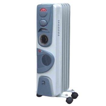 Масляный радиатор Aeronik C 0510 FT1.0 кВт<br>Aeronik (Аероник) C 0510 F представляет собой модель масляного обогревателя, которая идеально подходит для установки в ванных комнатах. Для достижения максимального обогрева помещения, в устройство вмонтирован вентилятор. Обогреватель работает в трех режимах мощности. Преимуществом модели является способность автоматического контроля температуры нагрева воздуха.<br>Особенности и преимущества:<br><br>Три уровня мощности.<br>Автоматический контроль температуры.<br>Пластиковая ручка.<br>Отсек для кабеля.<br>Колесики.<br>Модели стандартные (S), модели с вентилятором (F), модели с вентилятором и таймером (FT).<br><br>Масляные обогреватели Aeronik серии  C    бюджетные приборы для комфортного дополнительного обогрева бытовых, административных, коммерческих помещений. Линейка весьма разнообразна и представлена не только моделями с разной мощностью, но также и отличающимися комплектацией. Их исполнение соответствует самым высоким требованиям к качеству и безопасности, что делает масляные обогреватели Aeronik прекрасными представителями своего сегмента.<br><br>Страна: Австрия<br>Мощность, Вт: 1000<br>Площадь, м?: 10<br>Колво секций: 5<br>Напряжение, В: 220 В<br>Вес, кг: 7<br>Гарантия: 1 год