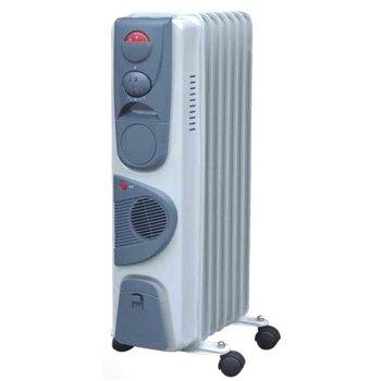 Масляный радиатор Aeronik C 0715 F1.5 кВт<br>Современная модель масляного обогревателя Aeronik (Аероник) C 0715 F разработана для обслуживания помещений с небольшой площадью. Преимуществом модели является наличие вентилятора, который увеличивает скорость прогрева помещения, равномерно распределяя теплый воздух. Агрегат предназначен для напольной установки в вертикальном положении.<br>Особенности и преимущества:<br><br>Три уровня мощности.<br>Автоматический контроль температуры.<br>Пластиковая ручка.<br>Отсек для кабеля.<br>Колесики.<br>Модели стандартные (S), модели с вентилятором (F), модели с вентилятором и таймером (FT).<br><br>Масляные обогреватели Aeronik серии  C    бюджетные приборы для комфортного дополнительного обогрева бытовых, административных, коммерческих помещений. Линейка весьма разнообразна и представлена не только моделями с разной мощностью, но также и отличающимися комплектацией. Их исполнение соответствует самым высоким требованиям к качеству и безопасности, что делает масляные обогреватели Aeronik прекрасными представителями своего сегмента.<br><br>Страна: Австрия<br>Мощность, Вт: 1500<br>Площадь, м?: 15<br>Колво секций: 7<br>Напряжение, В: 220 В<br>Вес, кг: 10<br>Гарантия: 1 год