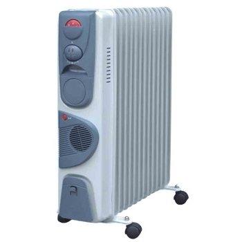 Масляный радиатор Aeronik C 1324 F2.5 кВт<br>Aeronik (Аероник) C 1324 F представляет собой модель масляного обогревателя, предназначенного для обслуживания отдельных помещений с площадью не более 24 м2. Для увеличения скорости нагрева воздуха в устройстве предусмотрен вентилятор. 13-и секционный обогреватель работает в 3 режимах мощности. Прочный корпус надежно защищает агрегат от влияния окружающей среды.<br>Особенности и преимущества:<br><br>Три уровня мощности.<br>Автоматический контроль температуры.<br>Пластиковая ручка.<br>Отсек для кабеля.<br>Колесики.<br>Модели стандартные (S), модели с вентилятором (F), модели с вентилятором и таймером (FT).<br><br>Масляные обогреватели Aeronik серии  C    бюджетные приборы для комфортного дополнительного обогрева бытовых, административных, коммерческих помещений. Линейка весьма разнообразна и представлена не только моделями с разной мощностью, но также и отличающимися комплектацией. Их исполнение соответствует самым высоким требованиям к качеству и безопасности, что делает масляные обогреватели Aeronik прекрасными представителями своего сегмента.<br><br>Страна: Австрия<br>Мощность, Вт: 2400<br>Площадь, м?: 24<br>Колво секций: 12<br>Напряжение, В: 220 В<br>Вес, кг: 15<br>Гарантия: 1 год