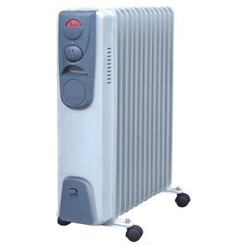 Масляный радиатор Aeronik C 1324 S2.5 кВт<br>Для обогрева отдельных комнат в квартирах и частных домах разработана модель секционного масляного обогревателя Aeronik (Аероник) C 1324 S. В качестве теплоносителя используется минеральное масло. Модель оборудована автоматической системой контроля температуры. Преимуществом устройства является его мобильность. Оно может быть переставлено в другое помещение и установлено в любом удобном месте.<br>Особенности и преимущества:<br><br>Три уровня мощности.<br>Автоматический контроль температуры.<br>Пластиковая ручка.<br>Отсек для кабеля.<br>Колесики.<br>Модели стандартные (S), модели с вентилятором (F), модели с вентилятором и таймером (FT).<br><br>Масляные обогреватели Aeronik серии  C    бюджетные приборы для комфортного дополнительного обогрева бытовых, административных, коммерческих помещений. Линейка весьма разнообразна и представлена не только моделями с разной мощностью, но также и отличающимися комплектацией. Их исполнение соответствует самым высоким требованиям к качеству и безопасности, что делает масляные обогреватели Aeronik прекрасными представителями своего сегмента.<br><br>Страна: Австрия<br>Мощность, Вт: 2400<br>Площадь, м?: 24<br>Колво секций: 12<br>Напряжение, В: 220 В<br>Вес, кг: 19<br>Гарантия: 1 год