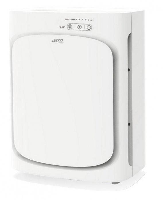 Очиститель воздуха Aic CF 8410Cо сменными фильтрами<br>Очистка воздуха с устройством AIC CF 8410 происходит поэтапно, благодаря особой системе фильтров. Сначала воздух очищается от крупных частиц (пыль, шерсть), затем от мелких, размер которых, не превышает 0,3 микрона (споры, пыльца), следующий этап - адсорбция вредных паров, газов (эффективность до 99%). После этого активируется режим очистки (вирусы, бактерии). Последний этап - ионизация - активизация молекул кислорода.<br>Особенности и преимущества представленной модели воздухоочистителя:<br><br>Наличие фильтра предварительной очистки.<br>Наличие HEPA фильтра, класса Н 14.<br>Подходит для аллергиков, астматиков.<br>Наличие угольного фильтра.<br>Адсорбирует формальдегиды, бензолы, аммиак и др. газы.<br>Устраняет неприятные запахи.<br>Наличие ультрафиолетовой лампы.<br>Стерилизация от бактерий, микробов, вирусов.<br>Наличие фотокаталитического фильтра.<br>Ионизация воздуха.<br>Активизирует молекулы кислорода.<br>Нейтрализует запахи гари, табачного дыма.<br><br><br>Качество воздуха, которым мы дышим, оказывает влияние на все функции организма: работоспособность, сон, иммунитет, самочувствие, настроение. Благодаря многоступенчатой инновационной системе фильтров, которой оборудован очиститель воздуха AIC CF 8410, появляется возможность существенно улучшить и качество воздуха, и, соответственно, своё здоровье, что особенно важно для людей с болезнями сердца и органов дыхания, астматиков и аллергиков.<br><br>Страна: Италия<br>Производитель: None<br>Площадь, м?: до 35<br>Воздухообмен мsup3;: 180<br>Колво режимов работы: None<br>Сенсоры качества воздуха: Нет<br>Газоанализатор: Нет<br>Датчик пыли: Нет<br>Предварительный фильтр: Да<br>НЕРАфильтр: Да<br>Угольный фильтр: Да<br>Электростатичный фильтр: Нет<br>Плазменный фильтр: Нет<br>Фотокаталитический фильтр: Да<br>УФ лампа: Да<br>Питание, В: 220 В<br>Ионизация: Да<br>Пульт Д/У: Нет<br>Антибактерицидный фильтр: Нет<br>Шум, дБа: 30/40/50<br>Мощность, Вт: 55<br>Габариты ВхШхГ