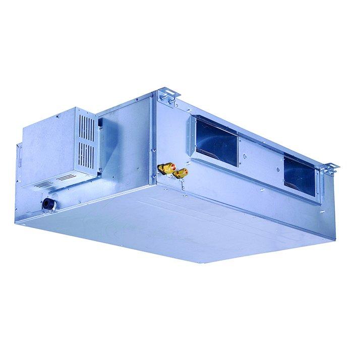Канальный кондиционер Airwell AWSI-DAF 030 N11/AWAU-YIF 030 H119.0 кВт - 30 BTU<br>AIRWELL AWSI-DAF 030 N22/AWAU-YIF 030 H22   это передовой канальный кондиционер, устанавливаемый преимущественно на объектах коммерческого, административного или жилого типа. Устройство имеет функциональное многорежимное управление, отличается стабильной производительностью, а также адаптировано для современных условий эксплуатации и подходит для использования в российском климате.<br>Особенности и преимущества кондиционеров AIRWELL представленной серии:<br><br>Компактный дизайн<br>4-х мерный поток - улучшенное охлаждение / нагрев благодаря движению жалюзи вверх-вниз<br>Автоматический режим - автоматический выбор охлаждения или обогрева для поддержания заданной температуры<br>Режим осушения<br>Режим комфортного сна<br>Функция I FEEL - точное регулирование температуры в выбранной зоне благодаря датчику на беспроводном пульте<br>Турбо-режим<br>Система самодиагностики<br>Авторестарт<br>Индикатор разрядки<br>Автоочистка<br>Сохранение тепла - исключает подачу холодного воздуха при режиме обогрева<br>Интеллектуальная система разморозки - при активации режима разморозки в режиме обогрева система не потребляет энергию<br>Бесшумная конструкция<br>Блокировка пульта<br>Возможность управлять несколькими блоками одним пультом<br><br>Компания AIRWELL представляет современные высокоэффективные кондиционеры полупромышленного типа, предназначенные для использования на объектах разного типа, а также в помещениях с большой площадью. Канальные и компактные кассетные блоки рассчитаны на монтаж за подвесным потолком, также присутствуют модели с универсальным монтажом на потолке или внизу у стены. <br><br>Страна: Франция<br>Охлаждение, кВт: 8.3<br>Обогрев, кВт: 9.1<br>Компрессор: Не инвертор<br>Площадь, м?: 80<br>Потребляемая мощность охлаждения, Квт: 3.0<br>Потребляемая мощность обогрева, Квт: 3.0<br>Воздухообмен, мsup3;/ч: 1400<br>Габариты внеш. блока ВШГ: 790x980x427<br>Осушение, л/час: None<br>Габариты 