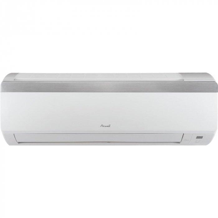 Настенный кондиционер Airwell HHD 01235 м? - 3.5 кВт<br>Модель AIRWELL HHD 012   это передовая сплит-система с инверторным управлением, фильтром для очистки комнатного воздуха и широким выбором режимов эксплуатации. Представленное устройство имеет высокий уровень энергоэффективности, не оказывает никакого отрицательного воздействия на самочувствие пользователей и состояние окружающей среды, а также гарантированно долго служит в нормальных условиях. <br>Особенности и преимущества:<br><br>Плоская панель.<br>Светодиодный дисплей с отображением заданной температуры воздуха в помещении.<br>Низкий уровень шума.<br>Высокопроизводительный хладагент R410A.<br>Компактные размеры.<br>Автоматическая очистка и внутренняя осушка.<br>Автоматический перезапуск после отключения питания.<br>Самодиагностика с отображением кода неисправности.<br>Режим усиленного охлаждения и нагрева.<br>Высокоэффективные фильтры, включая фотокаталитический и антибактериальный предварительные фильтры.<br>Беспроводной пульт дистанционного управления RC08A.<br><br>Инверторные настенные сплит-системы AIRWELL серии HHF созданы для организации необходимых климатических условий на территории жилых и офисных помещений в течение всех сезонов года. Все модели отличаются повышенной энергоэффективностью, имеют гарантированный производителем долгий срок службы, а также в процессе работы практически не создают шум. <br><br>Горизонтальная регулировка потока: Нет<br>Страна бренда: Франция<br>Уровень шума, дБа: 52<br>Габариты ВхШхГ, см: 54x73x32<br>Производитель: Китай<br>Вес, кг: 31<br>Компрессор: Инвертор<br>Площадь, м?: 35<br>Уровень шума, дБа: 32<br>Режим работы: холод/тепло<br>Габариты ВхШхГ, см: 26,5x79x17,7<br>Охлаждение, кВт: 3,322<br>Вес, кг: 9<br>Обогрев, кВт: 3,52<br>Потребление при охлаждении, кВт: 1,00<br>Потребление при обогреве, кВт: 1,00<br>Охлаждающая способность, тыс. BTU: 12<br>Диапазон t на охлаждение, С: +10...+48<br>Диапазон t на обогрев, С: 15...+24<br>Расход воздуха, м3/ч: 550<br>Хладагент: R410