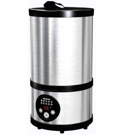 Увлажнитель воздуха Aquacom МХ2-500Ультразвуковые<br>Aquacom MX2-500   это современный прибор, который представляет собой многофункциональное устройство. Представленная модель способна очищать воздух, увлажнять его, что весьма благотворно влияет на здоровье и человека, и домашних животных. Агрегат также обеззараживает воздух, уничтожая различные болезнетворные микроорганизмы. Благодаря большой мощности образования пара вы можете успешно применять прибор для увлажнения больших помещений.<br>Преимущества увлажнителя-ионизатора воздуха MX2-500 от компании Aquacom:<br><br>Пульт управления (опция).<br>Антибактериальное действие для комнаты с новорожденным или детской;<br>Увлажнение воздуха в таких учреждениях как: детские сады, школы, поликлиники, больницы;<br>Увлажнитель нормализирует окружающую среду в спальнях и жилых помещениях.<br>Применена нанотехнология, основанная на уникальных свойствах природного антибиотика (серебро), которая активно насыщает распыляемую воду ионами серебра (наночастица Ag+), вследствие чего, генерируемый тонкодисперсный водяной туман приобретает ярко выраженные бактерицидные свойства.<br>Дополнительно, для обеззараживания распыляемой воды, нижняя часть внутренней поверхности резервуара покрыта чистым серебром (Ag 99,99%).<br>Электронная система устройства дает возможность обогащать воздух методом распыления воды с ионами серебра.<br>Ультразвуковой увлажнитель воздуха оснащен таймером, который позволяет выбирать и ограничивать время работы прибора.<br>Цифровой управляемый датчик дает возможность устанавливать желаемую норму влажности в помещении.<br>Увлажнитель воздуха способен создавать водяной туман с ярко выраженными бактерицидными свойствами.<br><br>Эргономичная конструкция ультразвукового увлажнителя воздуха Aquacom MX2-500 предусматривает удобный и компактный дизайн, а также информативный дисплей. Панель управления прибора интуитивно понятна, а на дисплее отображается вся необходимая информация. Агрегат весьма прост в использовании, а дл