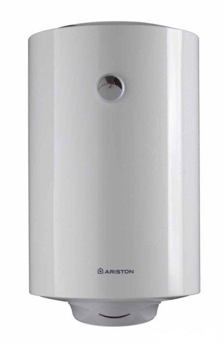 Водонагреватель Ariston SB R 100 V100 литров<br>Накопительный водонагреватель с внутренним баком покрытым эмалью SB R 100 V от Ariston. Водонагреватель с объемом бака достаточным, чтобы удовлетворить потребности в горячей воде семьи из 3-4х человек, имеет цилиндрическую форму накопительного бака, обеспечивающую равномерный нагрев воды. При таких объемах водонагреватель от Ariston серии SB R является экономичным электрическим прибором &amp;ndash; номинальная мощность ТЭНа составляет всего 1500 Вт.<br>Отличительные особенности накопительного водонагревателя серии SB R от Ariston:<br><br>Бак классической круглой формы со стальным корпусом;<br>Итальянский дизайн;<br>Трубчатый нагревательный элемент стандартной мощности 1,5 кВт;<br>Конструктивные особенности &amp;ndash; внутреннее эмалевое покрытие бака содержит титан;<br>Максимальная температура нагрева &amp;ndash; 75 0С;<br>Механическое управление, индикатор включения, термометр;<br>Технология Nanomix &amp;ndash; распределение холодной воды при подаче в бак;<br>Рабочее давление 6 атм, бак проходит тестирование под давлением 16 атм;<br>Система активной защиты от коррозии &amp;ndash; магниевый анод;<br>Система безопасности: предохранительный клапан, защита от перегрева;<br>Вертикальная установка, нижняя подводка воды;<br>Использование эффективной теплоизоляции для минимизации потерь тепла;<br>Контроль качества на всех ступенях производства оборудования.<br><br>Водонагреватель данной серии имеет один из самых длительных гарантийный сроков, которые обычно дают производители на свою продукцию. При этом внутренний бак не изготовлен из нержавеющей стали &amp;ndash; он всего лишь покрыт эмалью. Но данное эмалевое покрытие, использованное конструкторами Ariston для серии SB R, содержит такой свехпрочный материал как титан, который и позволяет гарантировать долговечность внутреннего покрытия бака. В остальном данная серия &amp;ndash; это максимально простой классический водонагреватель, который имеет трубчатый ТЭН мощностью 1500