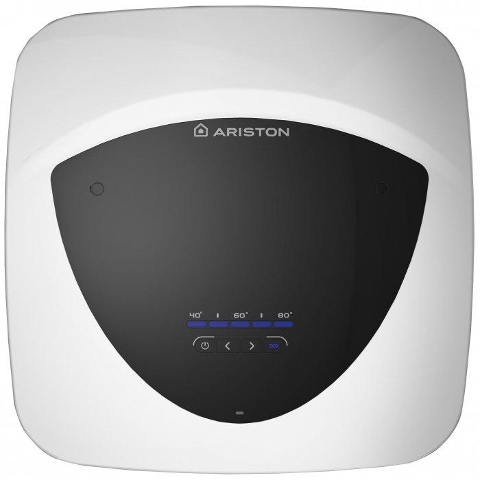 Водонагреватель Ariston ABS ANDRIS LUX ECO 1010 литров<br>Для регулировки работы высокоэффективного&amp;nbsp; накопительного водонагревателя Ariston (Аристон) ABS ANDRIS LUX ECO 10 используется простая и легкая для понимания электронная панель управления. Данное устройство способно предоставить для пользователя и всех членов его семьи горячую воду с минимальными затратами электричества на нагрев. Объем бака для воды &amp;mdash; 10 литров.<br>Особенности и преимущества накопительных водонагревателей Ariston серии ABS ANDRIS LUX ECO:<br><br>Автоматическая экономия.<br>Наивысший класс энергоэффективности.<br>Электронная панель для легкого управления.<br>Внешний регулятор температуры.<br>Функция ECO.<br>Точная настройка и отображение температуры.<br>ТЭН из специального сплава с эффектом антинакипин и тихим нагревом воды.<br>Эмалевое покрытие AG+ защищает внутренний бак от коррозии.<br>Расширенная система безопасности с устройством защитного отключения (УЗО), активной электрической защитой и защитой при включении без воды.<br>Предохранительный клапан в комплекте.<br>Защита корпуса класса IPX4.<br>Идеальное соотношение дизайна и производительности.<br>Электрический кабель в комплекте.<br>Установка над или под раковиной.<br>Вход холодной воды &amp;frac12; &amp;ldquo;; выход горячей воды &amp;frac12; &amp;ldquo;.<br><br><br>Высокоэффективные электрические накопительные водонагреватели из серии ABS ANDRIS LUX ECO от Ariston&amp;nbsp; представляют собой мощные устройства для нагрева воды и могут похвастаться эксклюзивным итальянским дизайном корпуса, отличительными особенностями которого являются практичность и эргономичность. Дизайн приборов не обременен лишними деталями, дополнительно увлажнители имеют функцию ионизации. Накопительные водонагреватели Ariston в интернет-магазине mircli.ru представлены в полном ассортименте. На страницах нашего каталога посетители найдут как новинки, так и проверенные временем модели.<br><br>Страна: Италия<br>Производитель: Россия<br>Способ н