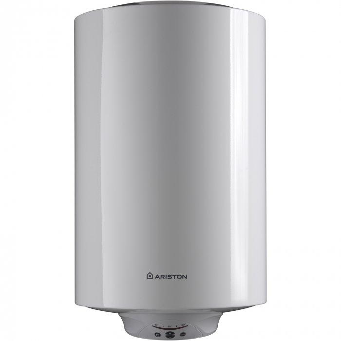 Электрический накопительный водонагреватель Ariston ABS PRO ECO 150 V150 литров<br>Ariston ABS PRO ECO 150 V   это накопительный электрический настенный водонагреватель в вертикальном исполнении, который идеально подходит для снабжения горячей водой квартиру, загородный дом или офисное помещение. Представленное оборудование оснащено новейшей системой безопасности ABS 2.0, которая защищает прибор от перегрева, от включения без воды, от перепадов в электрической сети. Кроме того, в данной модели реализована профессиональная защита от различного рода болезнетворных микроорганизмов. <br>Основные характеристики представленной модели:<br><br>Внешний диаметр прибора всего353 мми это позволяет установить его в самых узких, труднодоступных местах;<br>Ag+   эксклюзивное внутреннее покрытие бака с добавлением ионов серебра для защиты от коррозии и очищения воды;<br>Сверхпрочный металлический внешний корпус;<br>Профессиональная система защиты от бактерий - одно нажатие кнопки на панели управления и запускается автоматический режим защиты воды от бактерий, благодаря оптимальному подбору температуры и скорости нагрева воды;<br>Сварка бака по технологии Micro Plazma Tig;<br>ABS 2.0   система безопасности, включающая в себя защитное УЗО (устройство защитного отключения), активную электрическую защиту (снижена вероятность выхода прибора из строя из-за перепадов напряжения в сети) и защиту включения без воды;<br>Электронный термометр обеспечивает точный контроль температуры и увеличивает эффективность на 10%;<br>Максимальная рабочая температура 80 С;<br>Увеличенная теплоизоляция из полиуретана;<br>Уникальная форма рассекателя, позволяющая получить больше воды для душа за меньшее время;<br>Монтаж   настенный;<br>Электрический кабель в комплекте;<br>Многофункциональный предохранительный клапан;<br>Тестирование бака при давлении 16 бар;<br>Защита от попадания брызг.<br><br> <br>Электрические накопительные водонагреватели серии Ariston ABS PRO ECO имеют весьма компактны размеры, благодар