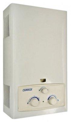 Водонагреватель Ariston DGI 10L CF (SUPERLUX)16-21 кВт<br>Пользователю, заинтересованному в максимальном уровне комфорта при нагреве воды, в полной безопасности и предельно высокой надежности водонагревателя, можно предложить модель газовой колонки Ariston DGI 10L CF (SUPERLUX).<br>Нагреватель этого типа приготавливает горячую воду проточным способом, потому ее в любой момент можно нагреть любое необходимое количество.<br>Датчики тяги, напора, перегрева исключают вероятность возникновения аварийной ситуации в работе с прибором, а механические регуляторы подачи воды на теплообменник и газа на горелку позволяют легко регулировать температуру нагрева воды и интенсивность ее напора.<br>Особенности прибора:<br><br>Может работать на сжиженном или природном газе<br>Высокая производительность   10 л/мин<br>Автоматический электророзжиг<br>Отсутствие запальника<br>Безопасные технологии энергосбережения<br>Система автоматической коррекции напора воды<br>Стабильное поддержание температуры нагрева воды<br>Многоуровневая система безопасности<br>Датчик тяги<br>Защита от перегрева с датчиком<br>Индикаторы неисправностей<br>Простота в управлении<br>Ручное управление мощностью<br>Раздельные регуляторы для горелки и управления напором<br>Режимы Зима/Лето с ручным переключателем<br>Низкие шумовые характеристики<br>Смотровое окно с защитным стеклом<br>Компактные размеры и классический привлекательный дизайн<br><br>Газовые колонки серии Ariston SUPERLUX могут работать и на природном газе, и на баллонном сжиженном. Такое оборудование в любой момент готово обеспечить Вас горячей водой, приготовленной из обычной проточной водопроводной. Проточный способ нагрева воды позволяет приготавливать горячую воду в любых нужных пользователю объемах.<br>Электронный розжиг горелки от двух батареек (2х1,5V, 3V, 5V LR10) избавляет конструкцию прибора от необходимости наличия постоянно горящего запальника   это ощутимо снижает расход газа и кислорода из помещения.<br>Система автоматической коррекции напор