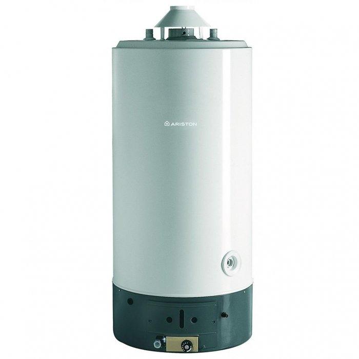 Водонагреватель Ariston SGA 150 R150 литров<br>Ariston SGA 150 R – это газовый водонагреватель накопительного типа, который оснащен индикатором и внешним регулятором температуры, которые обеспечивают удобство настройки необходимого режима и контроля. Данное оборудование отличается минимальными теплопотерями и весьма экономным расходом газа, что достигается благодаря отличной теплоизоляции из пенополиуретана.Вариант установки – вертикальный, напольный.<br>Основные характеристики представленной модели:<br><br>полная адаптация к российским условиям (устойчивая работа при пониженном входном давлении воды и газа);<br>естественная тяга и открытая камера сгорания;<br>экономичный расход газа;<br>внешний корпус выполнен из стали;<br>эксклюзивное высокостойкое эмалевое покрытие внутренней поверхности бака;<br>пьезозажигание с термопарой для контроля пламени;<br>магниевый анод;<br>газовый клапан с тремя устройствами безопасности (термопара, датчик предельной температуры и датчик дымоудаления) ;<br>возможность перевода на сжиженный газ;<br>энергонезависимость (работа без подключения к электрической сети) ;<br>возможно последовательное/параллельное подключение;<br>внешние регулятор и индикатор температуры воды;<br>современная, экологически чистая пенополиуретановая теплоизоляция позволяет снизить теплопотери на 15-20%;<br>гарантия качества от производителя.<br><br><br>Накопительные водонагреватели от итальянской компании-разработчика Ariston обеспечивают комфортное снабжение горячей водой, вне зависимости от температуры входящей воды и единовременного потребления. Все модели выполнены в современном, стильном дизайне и имеют небольшие габаритные размеры, благодаря чему успешно вписываются в любой интерьер. Данные приборы нашли широкое применение не только в бытовых, но и в промышленных целях.<br><br>Страна: Италия<br>Производитель: Италия<br>Перевод на сжиженный газ: Да<br>Магниевый анод: Да<br>Объем, л: 150<br>Темп. нагрева, С: 75<br>Давление: 8<br>Мощность, кВт: 7<br>Тип камеры