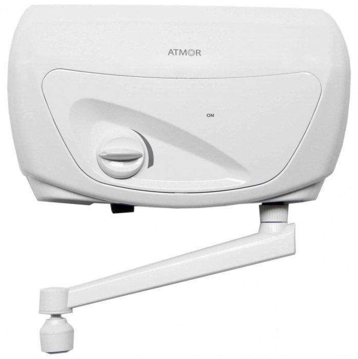 Водонагреватель Atmor CLASSIC 501 5000 Кухня5 кВт<br>Безнапорный проточный водонагреватель 5 кВт&amp;nbsp;ATMOR (Атмор)&amp;nbsp;CLASSIC 501 5000 Кухня&amp;nbsp;&amp;mdash; хороший выбор для дома. Модель великолепно впишется в любой современный интерьер, благодаря стильному эргономичному дизайну. Изделие имеет горизонтальный навесной вариант монтажа. Производительность данного водонагревателя составляет 3 литра в минуту. Модель идеальна для раковин.&amp;nbsp;<br><br>Страна: Израиль<br>Производитель: Китай<br>Темп. нагрева, С: 65<br>Способ нагрева: Электрический<br>Производительность: 3<br>Мощность, кВт: 5.0<br>Защита от перегрева: Есть<br>LCD дисплей: Нет<br>Управление: Механическая<br>Тип установки: Горизонтальная<br>Подводка: Нижняя<br>Комплектация: Кран<br>Тип подачи: Безнапорный<br>Напряжение сети, В: 220 В<br>Габариты ШхВхГ, см: 22x39x9<br>Вес, кг: 3<br>Гарантия: 2 года<br>Ширина мм: 220<br>Высота мм: 390<br>Глубина мм: 90