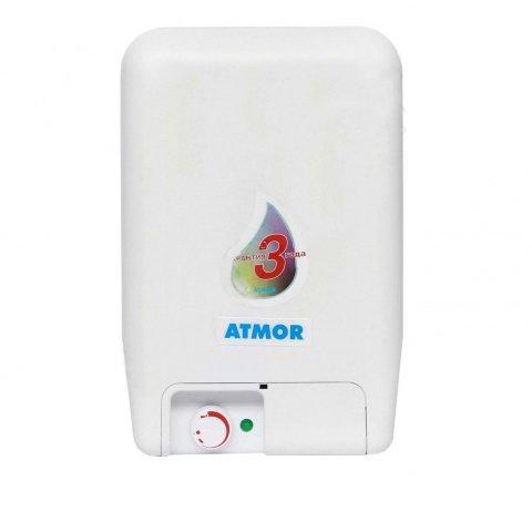 Хороший водонагреватель Atmor O/S/E 15 LT15 литров<br>Маленький бытовой водонагреватель ATMOR (Атмор) O/S/E 15 LT   хороший выбор для квартиры. Представленная модель отличается легким типом монтажа, простым использованием и долговечностью. <br><br>Страна: Израиль<br>Производитель: Египет<br>Способ нагрева: Электрический<br>Нагревательный элемент: Трубчатый<br>Объем, л: 15<br>Темп. нагрева, С: 80<br>Мощность, кВт: 1.5<br>Напряжение сети, В: 220 В<br>Плоский бак: Да<br>Узкий бак Slim: Нет<br>Магниевый анод: Да<br>Колво ТЭНов: 1<br>Дисплей: Нет<br>Сухой ТЭН: Нет<br>Защита от перегрева: Да<br>Покрытие бака: Стеклоэмаль<br>Тип установки: Вертикальная<br>Подводка: Нижняя<br>Управление: Механическое<br>Размеры ШхВхГ, см: 45х30.5х30.5<br>Вес, кг: 9<br>Гарантия: 3 года<br>Ширина мм: 450<br>Высота мм: 305<br>Глубина мм: 305