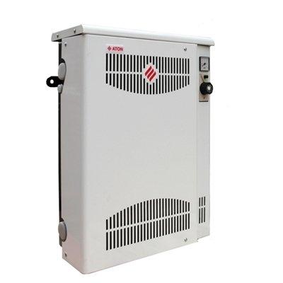 Котел Aton Compact АОГВМНД-16Е16 кВт<br>Котлы, выпускаемы компанией ATON, АОГВМНД оснащены герметичной камерой сгорания и применяются для снабжения горячей водой и теплом жилых домов, квартир, коммунальных сооружений и зданий другого типа, имеющие в своём составе систему водяного отопления и теплоноситель с естественной либо принудительной циркуляцией, а также систему, снабжающую здания горячей водой, которая использует природный газ с низким давлением.<br>Компания ATON изготавливает парапетные газовые котлы с возможностью установки на стену. Данные котлы оборудованы закрытой камерой сгорания с мощностью на выходе 7, 10, 12,5 и 16 кВт. Специфические характеристики котлов ATON, позволяют использовать их в зданиях и сооружениях, имеющих теплоноситель с естественной циркуляцией. Горение воздуха и отвод ненужных продуктов сгорания обеспечивается за счёт горизонтального дымовоздухоотвода, оснащённого двумя трубами, расположенные на внешней стене сооружения.<br>Котлы ATON АОГВМНД не используют для своей эксплуатации электроэнергию и крепятся около внешней стены здания. Данные котлы производятся в однофункционных и двухфункционных версиях. Следует  отметить  отличительную характеристику котлов компании ATON   возможность универсального подключения, благодаря которому обеспечивается лёгкость, простота и комфортность монтажных и технических работ.<br>Характерные преимущества и плюсы котлов  ATON АОГВМНД:<br><br>Котлы АОГВМНД не требуют подключения дымохода, а соответственно дополнительных работ.<br>Данные котлы работают без использования электроэнергии.<br>Имеется возможность универсального монтажа в индивидуальных квартирах и частных домах.<br>Конструкторская надёжность и лёгкость котла.<br>Индивидуальное и современное дизайнерское решение, при изготовлении котлов.<br>Высококачественная и квалифицированная сборка котлов.<br>Малые габариты, благодаря которым котёл не требует много место и его можно устанавливать в  любом месте дома, квартиры.<br>Элементы от ведущих мировых л