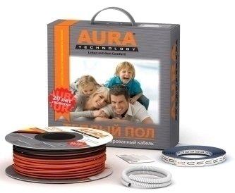 Теплый пол Aura Heating  КТА  111-2000Нагревательные кабели<br>Двухжильный экранированный нагревательный кабель немецкой компании AURA&amp;nbsp; модельный ряд&amp;nbsp; Heating&amp;nbsp; КТА&amp;nbsp; 111-2000&amp;nbsp; является идеальным решением для новых помещений. Кабель укладывается в заранее приготовленную цементную стяжку, отсутствует полностью риск поражения током, абсолютно безопасный процесс эксплуатации. Точное поддержание нужного температурного уровня на поверхности пола, теплый воздух постепенно прогревает все слои воздуха. Возле ног температура + 26 градусов, возле туловища составляет + 23, а голова всегда находится в прохладе температурного режима в +20 градусов.&amp;nbsp;&amp;nbsp;<br>Состав комплекта:<br><br>Двухжильный&amp;nbsp;нагревательный кабель&amp;nbsp;<br>Защитная гофрированная трубка для датчика температуры пола<br>Инструкция по монтажу и эксплуатации<br><br>Преимущества:<br><br>Высокий уровень безопасности<br>Экологически чистые исходные материалы<br>Быстрый и равномерный процесс прогревания помещения<br>Компактный терморегулятор<br>Интуитивно понятное управление<br>Эксплуатация без риска для здоровья<br><br>Немецкая компания отопительного оборудования AURA Technology GMBH&amp;nbsp; модельный ряд&amp;nbsp; Heating&amp;nbsp; КТА&amp;nbsp; представляет Вашему вниманию высококачественный и безопасный вид обогрева жилого или коммерческого помещения. Принцип обогрева основан на использовании нагревательного кабеля, который изготовлен из экологически безопасных материалов, не выделяющие химических соединений процессе эксплуатации. Пользователь с легкостью может осуществить обогрев детской комнаты, без риска для здоровья. Главным предназначением является преобразование протекающего по кабелю электрического тока в жизненно необходимое тепло, которое изначально прогревает пол, а потом равномерно отдает свое тепло в воздух. В отличие от двухжильного мата, кабель следует заливать непосредственно цементной стяжкой, толщина которой должна составлять 3-