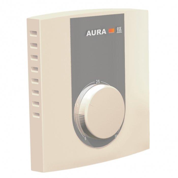 Теплый пол Aura VTC 235 кремовыйТерморегуляторы<br>Терморегулятор AURA (Аура) VTC 235 кремовый монтируется в системе обогрева полов и предназначен для управления системой нагревательного элемента. Устройство отличается неприхотливой эксплуатацией, ведь пользователь в любое время может проверить и отрегулировать режим работы теплого пола. Кнопка включатель-выключатель располагается на лицевой стороне агрегата сбоку.<br>Семейство терморегуляторов для систем обогрева теплый пол от немецкого бреда AURA - это всегда высокое качество и удобство в эксплуатации. Линейка представлена широким выбором моделей, где каждый пользователь найдет устройство себе по душе. Имеются недорогие модели с простой механической системой управления, а также устройства с электронным управлением, программируемые терморегуляторы и современные модели с сенсорным интерфейсом.<br><br>Страна: Германия<br>Мощность, кВт: 3,5<br>Канальная мощность, кВт: None<br>Длина, м: 2,0<br>Программирование: Нет<br>Площадь, м?: None<br>Управление: Механическое<br>Функция защиты от перегрева: None<br>Тип кабеля: None<br>Размер, мм: 81х85х44<br>Напряжение, В: 220 В<br>Вес, кг: 2<br>Гарантия: 2 года<br>Ширина мм: 85<br>Высота мм: 81<br>Глубина мм: 44