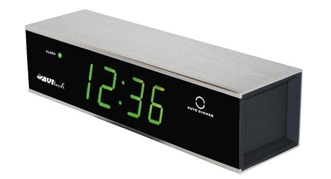 Часы без проекции BVItech BV-171GKMЧасы без проекции<br>BV-171GKM представляет собой настольную модель часов от компании BVItech. Их дизайн в строгой геометрической форме придется по вкусу ценителям минимализма, а широкий функционал понравится приверженцам современных технологий. Часы работают как от батареек, так и бытовой электрической сети. Имеют будильник, регулировку яркости подсветки, функция  snooze  для любителей поспать подольше. Корпус гаджета выполнен из стали   прочной и износоустойчивой.<br>Основные преимущества использования рассматриваемой модели настольных электронных часов от торговой марки BVItech:<br><br>Невероятно стильный современный внешний облик, компактные размеры.<br>Корпус из алюминия сатин.<br>Автоматическая регулировка яркости.<br>Функция будильника  Snooze .<br>Цвет свечения индикатора   зеленый.<br>Размер цифр индикатора: 23 мм(0,9 ).<br>Номинальное напряжение питания: АС: 200-240В - 50/60 Hz.<br>Резервные батареи не входят в комплект.<br>Сетевой адаптер.<br>Высокое качество и комфорт в управлении.<br><br>Пожалуй, часы   это неотъемлемая часть интерьера абсолютно каждого дома или офиса. Торговая марка BVItech представила обновленную серию сетевых настольных часов с функцией будильника, где каждый сможет подобрать прибор себе по душе. Широкий ассортимент моделей располагает приборами различной формы, дизайна, а также разнообразным цветовым вариантом свечения элементов дисплея.  Все модели серии работают от стандартной сети электричества. Также, для некоторых устройств, в качестве резервного источника питания могут быть использованы батарейки.<br><br>Страна: Китай<br>Питание, В: Сеть/Бат.<br>Тип батарейки: ААА<br>Колво батареек: 4<br>Адаптер к 220В: Есть<br>С будильником: Да<br>Радиодатчик: None<br>С метеостанцией: None<br>В помещении t, С: Нет<br>За окном t, С: Нет<br>Влажность в помещении: Нет<br>Влажность за окном: Нет<br>Давление: Нет<br>Прогноз погоды: Нет<br>Габариты, мм: 175х50х46<br>Вес, кг: 1<br>Гарантия: 1 год<br>Ширина мм: 50<b