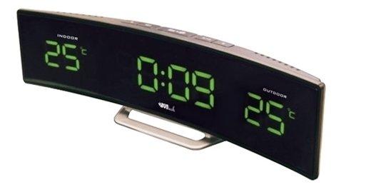 Часы без проекции BVItech BV-415GKSЧасы без проекции<br>BV-415GKS &amp;ndash; это настольная метеостанция в компактном корпусе оригинальной формы, разработан аксессуар торговой маркой BVItech, которая оснастила свое устройство также часами и двумя будильниками с возможностью отложенного сигнала. Представленная метеостанция оборудована внешним и внутренним термометром, а информацию выводит на широкий дисплей с приятной зеленой подсветкой.<br>Основные преимущества использования рассматриваемой модели погодной метеостанции от торговой марки BVItech:<br><br>Стильный эргономичный дизайн.<br>Компактные размеры конструкции.<br>Новинка сезона!<br>Многофункциональное устройство.<br>Часы, будильник с функцией &amp;laquo;Snooze&amp;raquo;.<br>Обычный будильник.<br>Термометр, внутренняя и внешняя температура.<br>Внешний датчик для температуры.<br>Высота цифр на дисплее 23 мм (0,9&amp;rdquo;).<br>Светодиодный дисплей, зеленое свечение.<br>Беспроводной датчик с проводным сенсором.<br>Сетевой адаптер АС 220В Резервные батареи: CR2032.<br>Высокое качество и комфорт в управлении.<br><br>Вы хотите иметь собственный барометр и быть в курсе погодных условий? Тогда вам, несомненно, стоит присмотреться к домашним метеостанциям от торговой марки BVItech. В представленной серии приборов есть модели, которые показывают температуру воздуха внутри помещения и за окном, а есть и такие, которые способны предсказать прогноз погоды при помощи встроенного гигрометра и даже текущую фазу луны. Кроме того, некоторые модели семейства с легкостью заменят вам ночной светильник. Разнообразие дизайнерских решений также порадует каждого пользователя.&amp;nbsp;<br><br>Страна: Китай<br>Питание, В: Сеть/Бат.<br>Тип батарейки: CR2032<br>Колво батареек: 1<br>Адаптер к 220В: Есть<br>С будильником: Да<br>Радиодатчик: None<br>С метеостанцией: Да<br>В помещении t, С: Да<br>За окном t, С: Да<br>Влажность в помещении: Нет<br>Влажность за окном: Нет<br>Давление: Нет<br>Прогноз погоды: Нет<br>Габариты, мм: 285х55х66<br