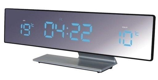 Часы без проекции BVItech BV-43BMxЧасы без проекции<br>BV-43BMx &amp;ndash; это компактная метеостанция, исполненная компанией BVItech в стильном дизайне с зеркальной поверхностью. Гаджет представляет собой многофункциональное устройство. Здесь и индикатор точного времени; и два будильника, один из которых имеет возможность отложить сигнал; и прогноз погоды; и датчики наружной и внутренней температуры. Светодиодный дисплей имеет приятную синюю подсветку, а цифры достаточно большого размера &amp;ndash; 23 мм.<br>Основные преимущества использования рассматриваемой модели погодной метеостанции от торговой марки BVItech:<br><br>Стильный эргономичный дизайн.<br>Компактные размеры конструкции.<br>Многофункциональное устройство.<br>Часы, будильник с функцией &amp;laquo;Snooze&amp;raquo;.<br>Термометр, внутренняя и внешняя температура.<br>Внешний датчик для температуры.<br>Высота цифр на дисплее 23 мм (0,9&amp;rdquo;).<br>Светодиодный дисплей, синее свечение.<br>Зеркальная поверхность.<br>Беспроводной датчик с проводным сенсором ( 2,5 м).<br>Сетевой адаптер АС 220В, адаптер 50Гц DC 4.5B/200mA.<br>Резервные батареи: CR2032.<br>Высокое качество и комфорт в управлении.<br><br>Вы хотите иметь собственный барометр и быть в курсе погодных условий? Тогда вам, несомненно, стоит присмотреться к домашним метеостанциям от торговой марки BVItech. В представленной серии приборов есть модели, которые показывают температуру воздуха внутри помещения и за окном, а есть и такие, которые способны предсказать прогноз погоды при помощи встроенного гигрометра и даже текущую фазу луны. Кроме того, некоторые модели семейства с легкостью заменят вам ночной светильник. Разнообразие дизайнерских решений также порадует каждого пользователя.&amp;nbsp;<br><br>Страна: Китай<br>Питание, В: Сеть/Бат.<br>Тип батарейки: CR2032<br>Колво батареек: 1<br>Адаптер к 220В: Есть<br>С будильником: Да<br>Радиодатчик: None<br>С метеостанцией: Да<br>В помещении t, С: Да<br>За окном t, С: Да<br>Влажность в помещении: Нет