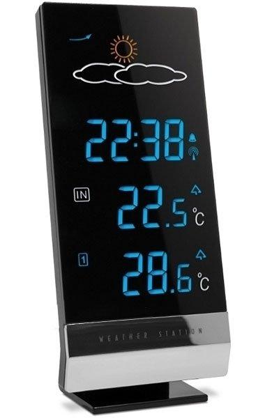 Часы без проекции BVItech BV-61BKMЧасы без проекции<br>BV-61BKM   это новинка от торговой марки BVItech. Гаджет представляет собой многофункциональное устройство: здесь и индикатор точного времени, и анимированный прогноз погоды, и температуры внутри помещения и снаружи, а также показатель атмосферного давления. Вся информация выводится на большой LED-дисплей с приятной синей подсветкой. Работает аксессуар от обычных пальчиковых батареек.<br>Основные преимущества использования рассматриваемой модели погодной метеостанции от торговой марки BVItech:<br><br>Стильный эргономичный дизайн.<br>Компактные размеры конструкции.<br>Новинка сезона!<br>Многофункциональное устройство.<br>Большой информативный LED дисплей с анимированным прогнозом погоды.<br>Синее свечение.<br>На дисплей одновременно выведены все функции.<br>Беспроводной датчик на частоте 433 Мгц (до -50 град).<br>Измерение комнатной и уличной температуры.<br>Часы с кварцевой стабилизацией.<br>Календарь.<br>Индикатор гололеда.<br>Тренд атмосферного давления.<br>Питание 2*АА.<br>Высокое качество и комфорт в управлении.<br><br>Вы хотите иметь собственный барометр и быть в курсе погодных условий? Тогда вам, несомненно, стоит присмотреться к домашним метеостанциям от торговой марки BVItech. В представленной серии приборов есть модели, которые показывают температуру воздуха внутри помещения и за окном, а есть и такие, которые способны предсказать прогноз погоды при помощи встроенного гигрометра и даже текущую фазу луны. Кроме того, некоторые модели семейства с легкостью заменят вам ночной светильник. Разнообразие дизайнерских решений также порадует каждого пользователя. <br><br>Страна: Китай<br>Питание, В: Сеть/Бат.<br>Тип батарейки: AA<br>Колво батареек: 2<br>Адаптер к 220В: Есть<br>С будильником: Да<br>Радиодатчик: None<br>С метеостанцией: Да<br>В помещении t, С: Да<br>За окном t, С: Да<br>Влажность в помещении: Нет<br>Влажность за окном: Нет<br>Давление: Нет<br>Прогноз погоды: Да<br>Габариты, мм: 95x34x196<br>Вес, к