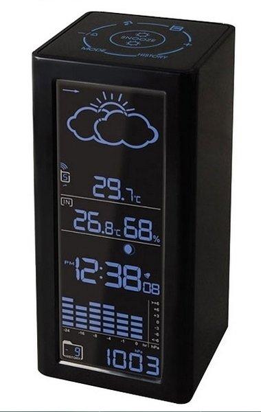 Часы без проекции BVItech BV-68BxxЧасы без проекции<br> Компактная функциональная настольная метеостанция BV-68Bxx от бренда BVItech. Гаджет показывает анимированный прогноз погоды с температурой, атмосферным давлением и даже лунными фазами. Также имеет индикатор времени, будильник и календарь. Кроме того, метеостанция запоминает данные за последние сутки. Вся информация выводится на дисплей, а управление прибором осуществляется с помощью сенсорных кнопок.<br>Основные преимущества использования рассматриваемой модели погодной метеостанции от торговой марки BVItech:<br><br>Стильный эргономичный дизайн.<br>Компактные размеры конструкции.<br>Метеостанция.<br>Анимированный прогноз погоды.<br>Цифровой барометр.<br>Клавиши с сенсорным управлением.<br>Измерение температуры/влажности внутри/снаружи помещения.<br>Фазы луны.<br>Память измеренных данных на 24 часа.<br>Часы, будильник, календарь.<br>Беспроводной датчик с проводным сенсором ( 2,5 м).<br>Сетевой адаптер: АС: 220В - 50Hz DC: 7B/300mA.<br>Резервное питание: 1,5Вх2 шт/АА (в комплект не входит).<br>Размер беспроводного датчика: 9х2,3х7,3 см.<br>Высокое качество и комфорт в управлении.<br><br>Вы хотите иметь собственный барометр и быть в курсе погодных условий? Тогда вам, несомненно, стоит присмотреться к домашним метеостанциям от торговой марки BVItech. В представленной серии приборов есть модели, которые показывают температуру воздуха внутри помещения и за окном, а есть и такие, которые способны предсказать прогноз погоды при помощи встроенного гигрометра и даже текущую фазу луны. Кроме того, некоторые модели семейства с легкостью заменят вам ночной светильник. Разнообразие дизайнерских решений также порадует каждого пользователя. <br><br>Страна: Китай<br>Питание, В: Сеть/Бат.<br>Тип батарейки: АА<br>Колво батареек: 2<br>Адаптер к 220В: Есть<br>С будильником: Да<br>Радиодатчик: None<br>С метеостанцией: Да<br>В помещении t, С: Да<br>За окном t, С: Да<br>Влажность в помещении: Да<br>Влажность за окном: Да<br>Давление: