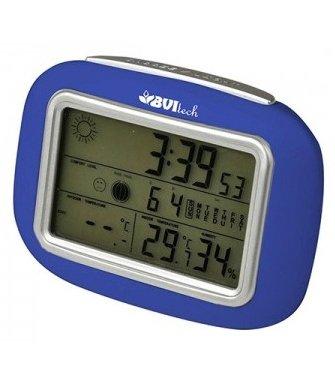 Цифровая метеостанция BVItech BV-95WxxБез радиодатчика<br>Стильная и эргономичная электронная мини-метеостанция&amp;nbsp;BVItech (Бивитек) BV-95Wxx&amp;nbsp;&amp;mdash; это отличное приобретение для дома, которое позволит расширить функционал жилого помещения и обеспечить пользователю и всей его семье максимально комфортную возможность получить сведения о погодных условиях и влажности внутри и снаружи комнаты. С компактным карманным прибором доступны часы, будильник и календарь.<br><br>Страна: Китай<br>Диапазон темп. t, С: 50+60<br>Диапазон p, мм. рт. ст.: None<br>Диапазон rH, : 2099<br>Разрешение t, С: 0,1<br>Цвет корпуса: Синий<br>Питание, В: Батарейки<br>Колво батареек: 2<br>Тип батарейки: ААА<br>Адаптер к 220В: Есть<br>В комнате t, С: Да<br>За окном t, С: Нет<br>Влажность в помещении: Да<br>Влажность за окном: Нет<br>Давление: Нет<br>Прогноз погоды: Да<br>Лунный календарь: Нет<br>Размер, мм: 90х130х60<br>Вес, кг: 1<br>Гарантия: 1 год<br>Ширина мм: 130<br>Высота мм: 90<br>Глубина мм: 60