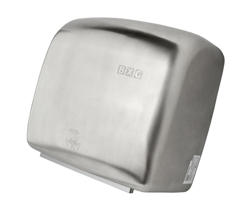 Высокоскоростная сушилка для рук BXG JET-5300AАнтивандальные<br>Высокоскоростная сушилка для рук JET-5300A  от BXG придется по вкусу всем ценителям комфорта и качества. Данный прибор справляется со своей задачей всего за 7 секунд! Это стало возможным благодаря высокой скорости потока воздуха   95 м/сек. Первоклассное исполнение, удобное использование, функция интеллектуального нагрева, три фильтра тонкой очитки и стильный современный дизайн   все это также является достоинствами представленной модели. Стоит отметить, что прибор изготовлен из экологически чистых материалов с применением инновационных технологий и сможет долгие годы служить стабильно и безукоризненно.<br>Основные преимущества высокоскоростной сушилки для рук:<br><br>Материал внешнего корпуса и крепёжного подвеса   нержавеющая сталь.<br>Влагозащита   IPX4.<br>Бесконтактное управление.<br>Время сушки 5-7 сек.<br>Автоматическое отключение при непрерывной работе и перебоях напряжения.<br>Скорость воздушного потока 95 м/с.<br>Принудительный нагрев воздуха.<br>Выбор скорости потока воздуха.<br>Цветовое исполнение:<br><br><br>базовый - металлический матовый (BXG-JET-5300A).<br>базовый - металлический глянцевый (BXG-JET-5300AC).<br>под заказ - любой цвет.<br><br>Серия высокоскоростных сушилок для рук JET от известного бренда BXG обладает очень высоким классом влагозащиты корпуса   IPX4. Это значит, что прибор надежно защищен от попадания брызг воды абсолютно со всех сторон, а вероятность поражения электрическим током или короткого замыкания очень мала. Стоит отметить, что приборы оснащены инфракрасным датчиком, а также используют микропроцессорную технологию управления, благодаря чему осуществляется контроль за работой, исключающий слишком долгое использование агрегата или использование не по назначению. Кроме того, сушилка автоматически отключается в случае перегрева или  перепадов напряжения в электрической сети.<br><br>Страна: Китай<br>Мощность, кВт: 1,25<br>Материал корпуса: Нержавеющая сталь<br>Поток воз