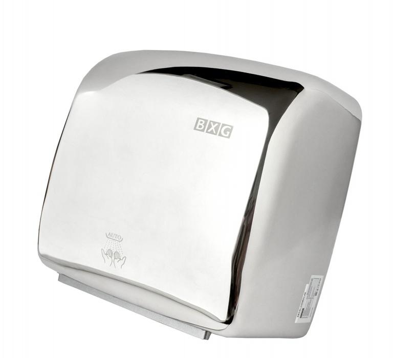 Сушилка для рук BXG JET-5300ACАнтивандальные<br>Высокоскоростная сушилка для рук JET-5300AC от BXG станет отличным выбором для мест с большой проходимостью. Прибор обладает высокой скоростью воздушного потока, благодаря чему высушивает руки всего за семь секунд. Кроме того, в арсенале сушилки несколько режимов работы, которые меняют температуру нагрева воздуха и силу воздушного потока. Имеется режим 3D сушки, который обеспечивает объемное распределение воздуха, осуществляя эффективное осушение со всех сторон. BXG JET-5300AC понравится даже самым притязательным пользователям!<br>Основные преимущества высокоскоростной сушилки для рук:<br><br>Материал внешнего корпуса и крепёжного подвеса &amp;ndash; нержавеющая сталь.<br>Влагозащита &amp;ndash; IPX4.<br>Бесконтактное управление.<br>Время сушки 5-7 сек.<br>Автоматическое отключение при непрерывной работе и перебоях напряжения.<br>Скорость воздушного потока 95 м/с.<br>Принудительный нагрев воздуха.<br>Выбор скорости потока воздуха.<br>Цветовое исполнение:<br><br><br>базовый - металлический матовый (BXG-JET-5300A).<br>базовый - металлический глянцевый (BXG-JET-5300AC).<br>под заказ - любой цвет.<br><br>Серия высокоскоростных сушилок для рук JET от известного бренда BXG обладает очень высоким классом влагозащиты корпуса &amp;ndash; IPX4. Это значит, что прибор надежно защищен от попадания брызг воды абсолютно со всех сторон, а вероятность поражения электрическим током или короткого замыкания очень мала. Стоит отметить, что приборы оснащены инфракрасным датчиком, а также используют микропроцессорную технологию управления, благодаря чему осуществляется контроль за работой, исключающий слишком долгое использование агрегата или использование не по назначению. Кроме того, сушилка автоматически отключается в случае перегрева или&amp;nbsp; перепадов напряжения в электрической сети.<br><br>Страна: Китай<br>Мощность, кВт: 1,25<br>Материал корпуса: Нержавеющая сталь<br>Поток воздуха м/с: 90<br>Степень защиты: IPX 4<br>Цвет корпуса: