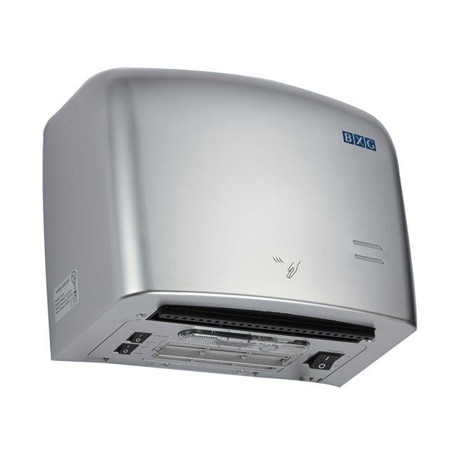 Сушилка для рук BXG JET-5500ССкоростные сушилки для рук<br>Сверхскоростная сушилка для рук в прочном корпусе BXG-JET-5500C &amp;mdash; это новинка 2016 года. Агрегат обладает просто потрясающей скоростью сушки, имеет эргономичную конструкцию с тщательно продуманными деталями, оснащена несколькими режимами работы и оборудована фильтром тонкой очистки воздуха. Благодаря этому каждый пользователь сможет подстроить работу прибора под конкретное помещение и обеспечить гигиеничность эксплуатации устройства.<br>Основные преимущества высокоскоростной сушилки для рук:<br><br>Сушка рук от локтя до кончиков пальцев.<br>3D технология сушки рук.<br>HEPA фильтр тонкой очистки воздуха.<br>Бесконтактное управление.<br>Рассчитан на частое ежедневное использование.<br>Ударопрочный корпус.<br><br>Серия высокоскоростных сушилок для рук JET от известного бренда BXG обладает очень высоким классом влагозащиты корпуса &amp;ndash; IPX4. Это значит, что прибор надежно защищен от попадания брызг воды абсолютно со всех сторон, а вероятность поражения электрическим током или короткого замыкания очень мала. Стоит отметить, что приборы оснащены инфракрасным датчиком, а также используют микропроцессорную технологию управления, благодаря чему осуществляется контроль за работой, исключающий слишком долгое использование агрегата или использование не по назначению. Кроме того, сушилка автоматически отключается в случае перегрева или&amp;nbsp; перепадов напряжения в электрической сети.<br>&amp;nbsp;<br><br>Страна: Китай<br>Мощность, кВт: 1,25<br>Материал корпуса: Пластик<br>Поток воздуха м/с: 95<br>Степень защиты: IPX4<br>Цвет корпуса: Серебристый<br>Минимальный уровень шума, дБа: 75<br>Объем воздушного потока, м3/час: None<br>Средняя скорость высушивания, сек: 7<br>Температура воздушного потока, С: 45<br>Размеры, мм: 282х171х245<br>Вес, кг: 4<br>Гарантия: 1,5 года